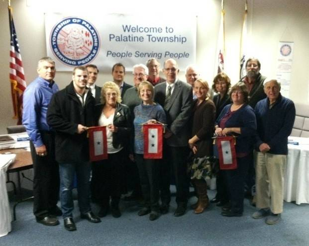 The Palatine Township Board recognized military families in Palatine Township during a previous Blue Star Banner Presentation.