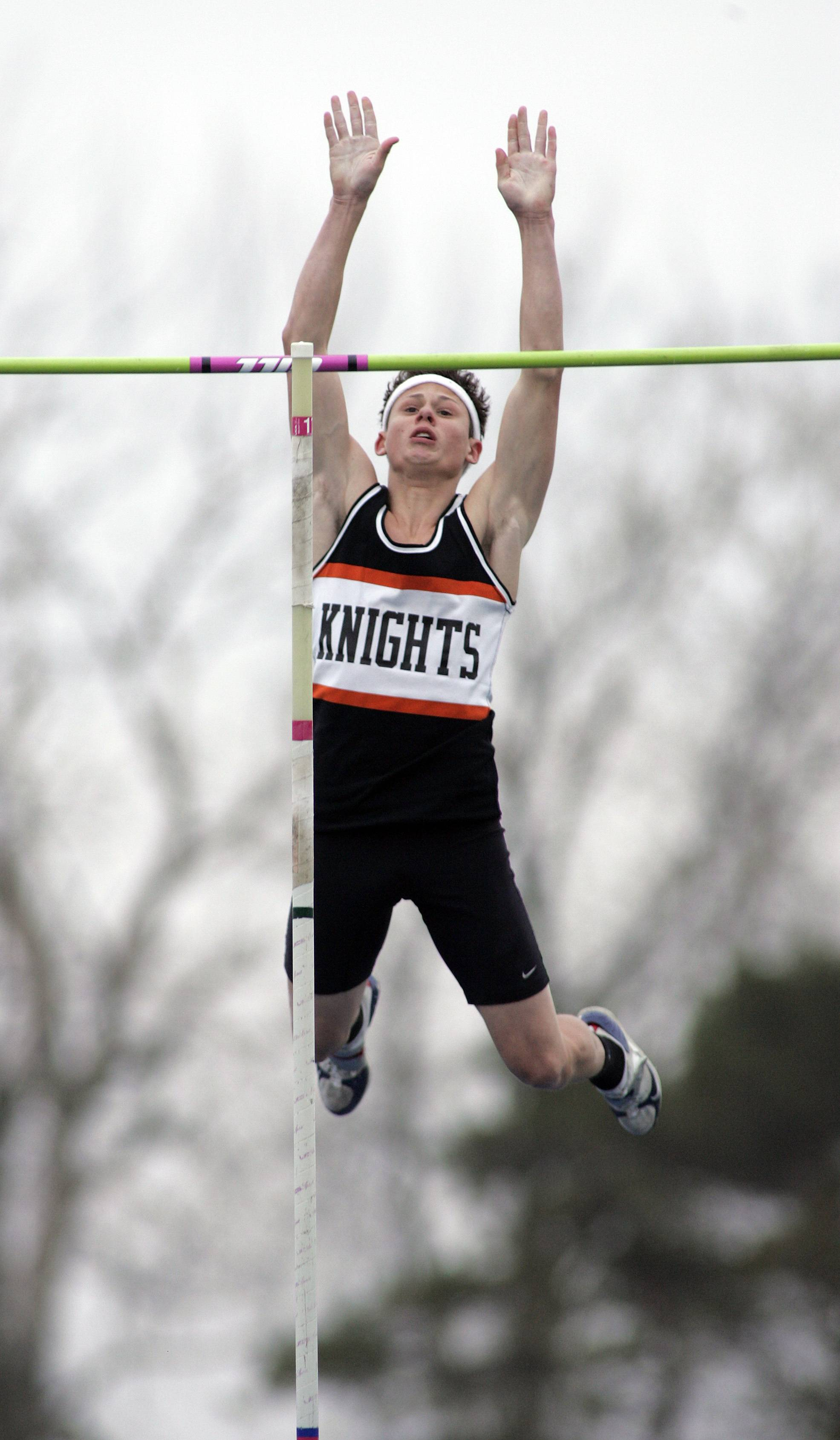 Dylan Kuipers, above, helped keep Kaneland's 32-year streak of qualifying someone for the state pole vault.