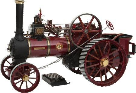 Live steam scale model allchin 'Royal Chester' exhibition traction engine.