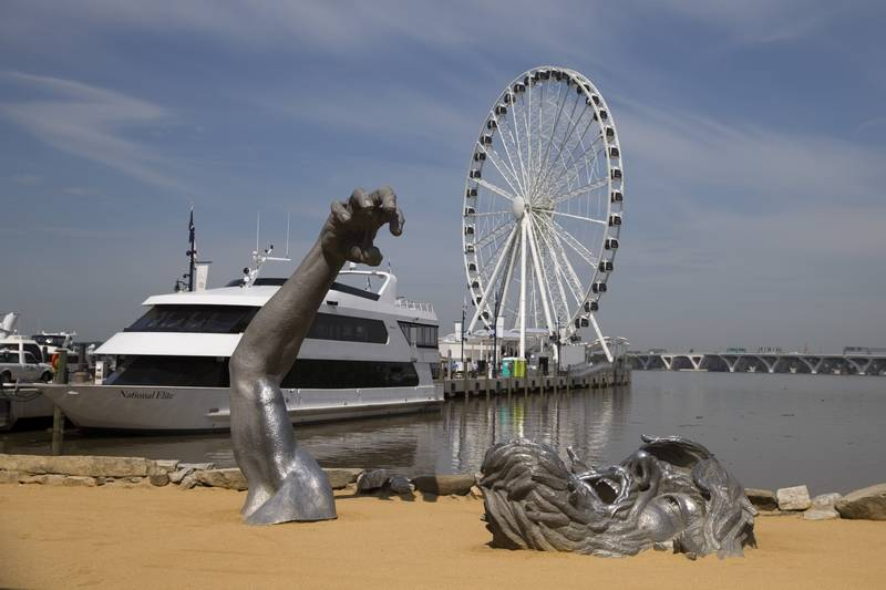 National Harbor In Maryland Ociated Press With The New Capital Wheel Overlooking Nation S A Children Museum Village