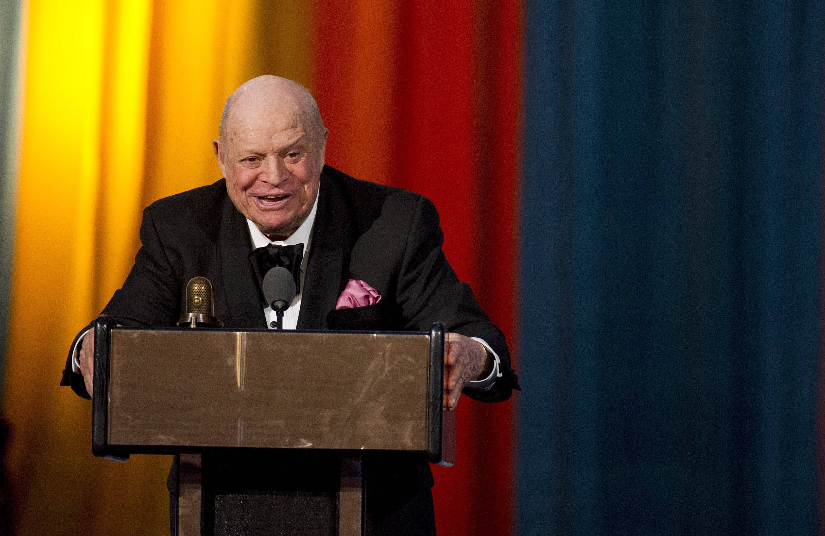 "Don Rickles is being feted by Spike TV with a 90-minute special, ""One Night Only: An All-Star Comedy Tribute."" The black-tie affair taped earlier this month at Harlem's storied Apollo Theater airs Wednesday."