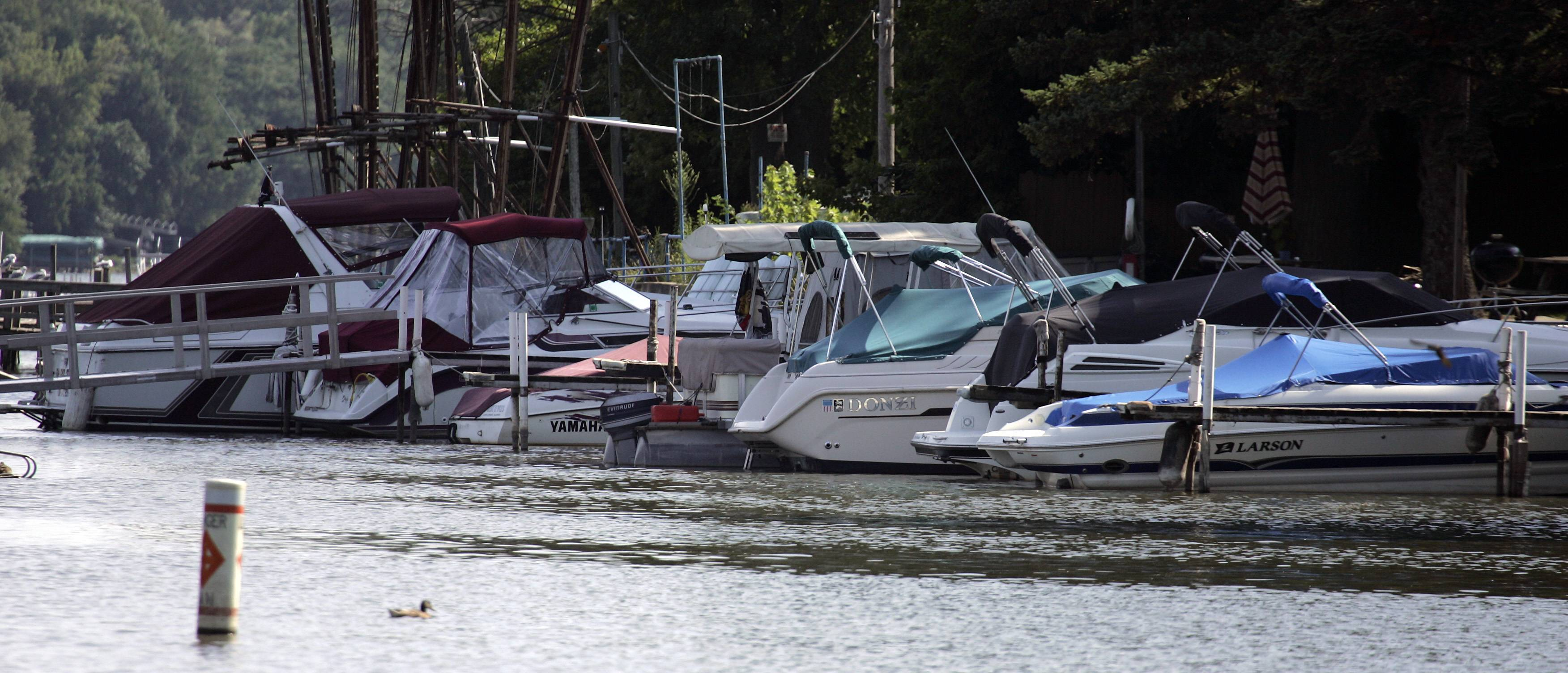 Boats dock along the Fox River as it runs through Algonquin. Algonquin and Carpentersville recently received planning assistance for a grant that will identify recreational activities along the river between the communities.