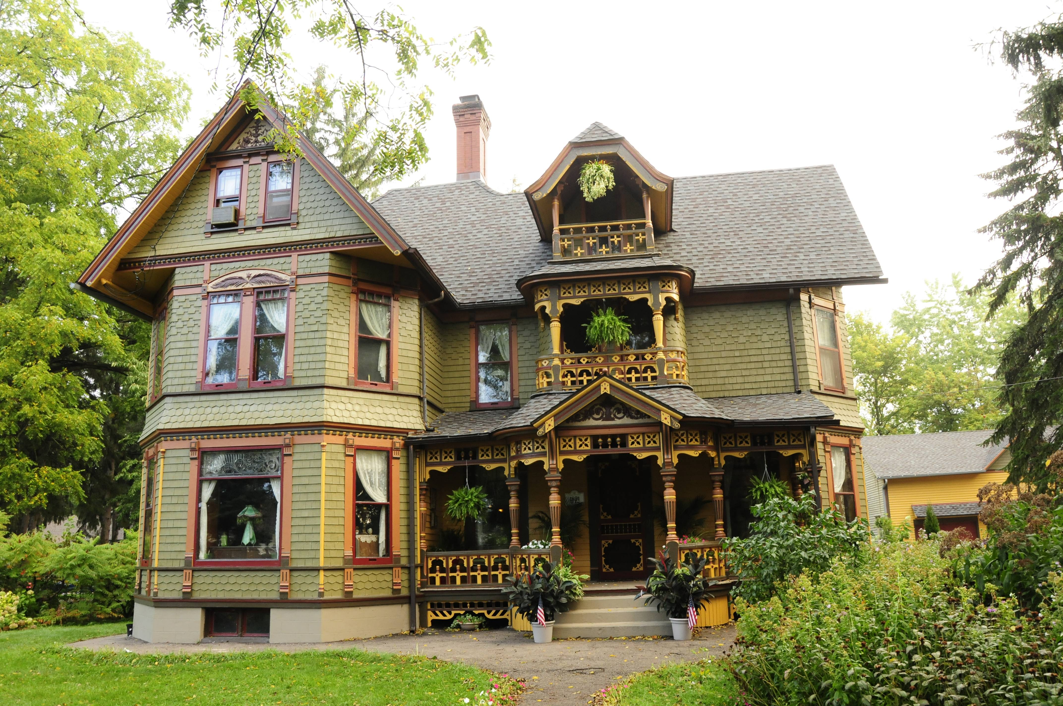 This home in Elgin was the grand prize winner of last year's CPCA Painted Ladies and her Court competition.