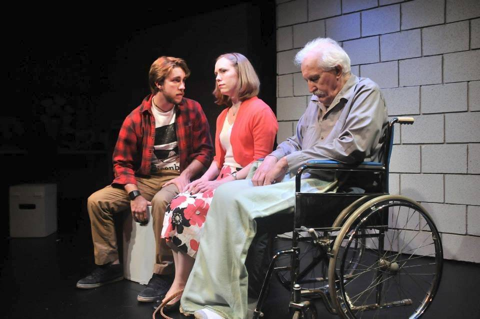"Village Theatre Guild's production of ""now then again"" features Terry Wehrman Jr. as Henry, Sharon Kushiner as Ginny and Stan Kosek as Felix."