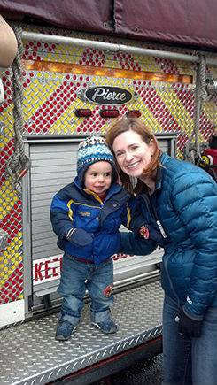 MDA Ambassador 3 year old Ben Noble with his mom Lauren Noble at last years Fill the Boot Drive.Amanda Konopka