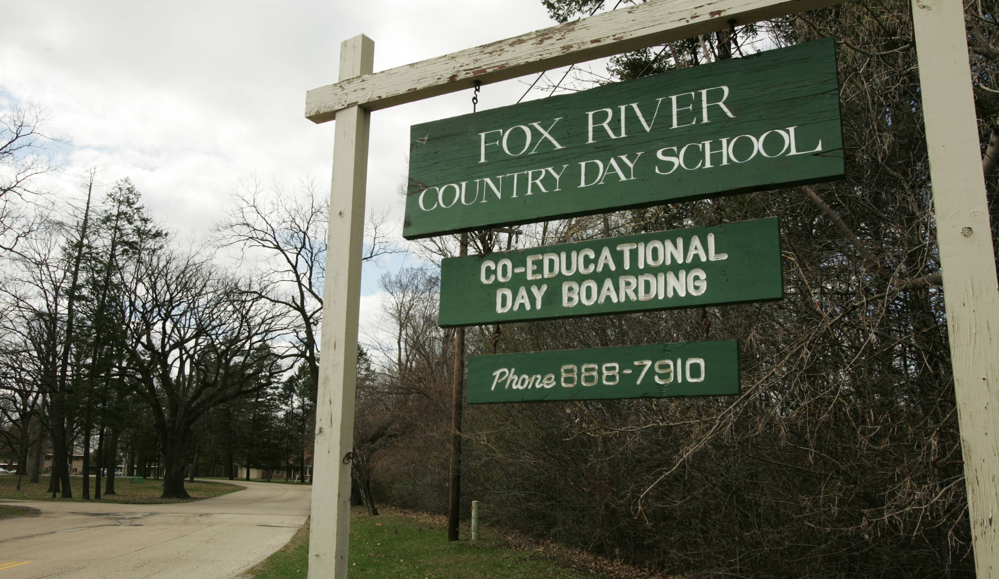 The Fox River Country Day School grounds are on Dundee Avenue in Elgin.