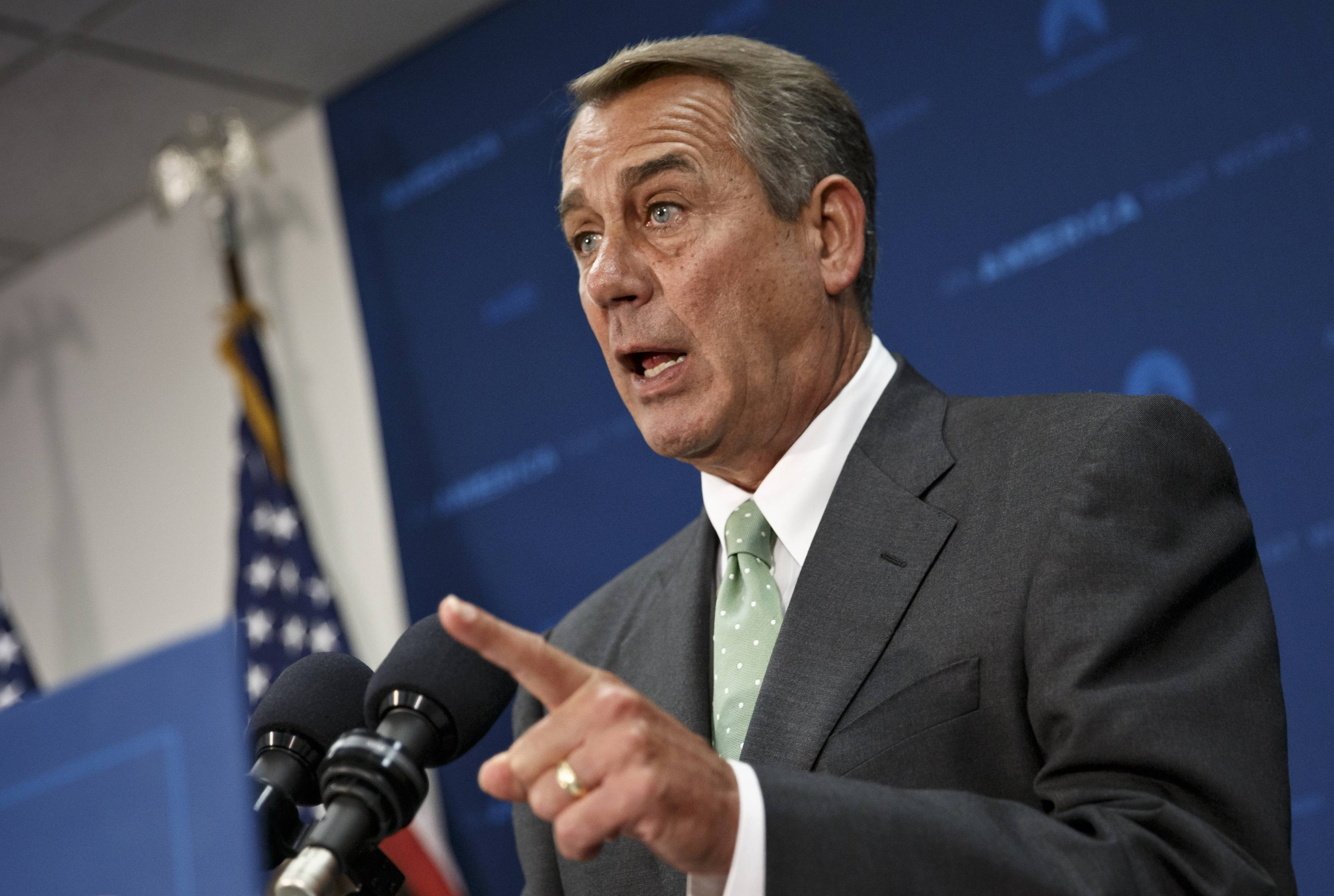 House Speaker John Boehner of Ohio tells reporters Thursday that he isn't quite ready to join other members of Congress who say Veterans Affairs Secretary Eric Shinseki should resign in the wake of problems with the Veterans Affairs troubled health care system.