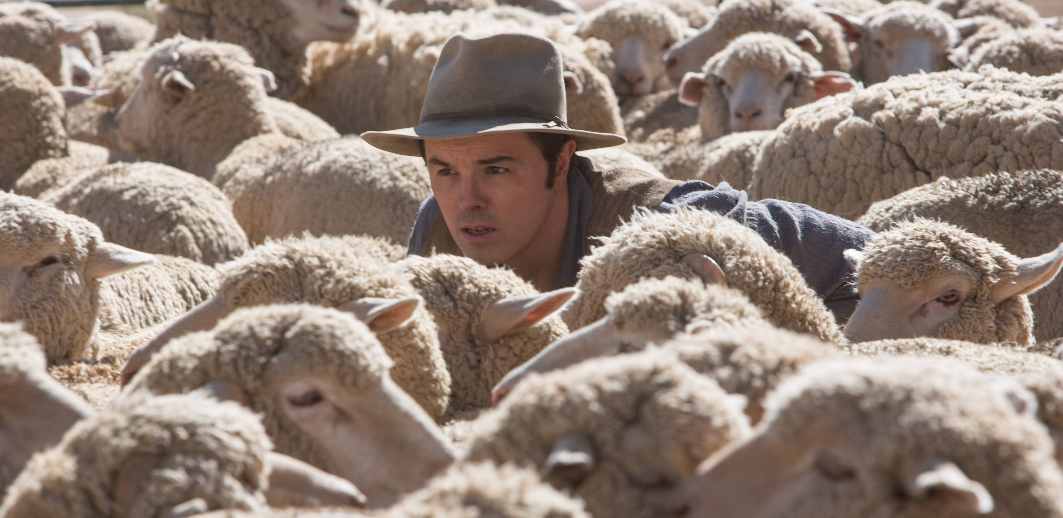 "A wolf in sheep's clothing? Not nice guy Albert (Seth MacFarlane) in ""A Million Ways to Die in the West."""