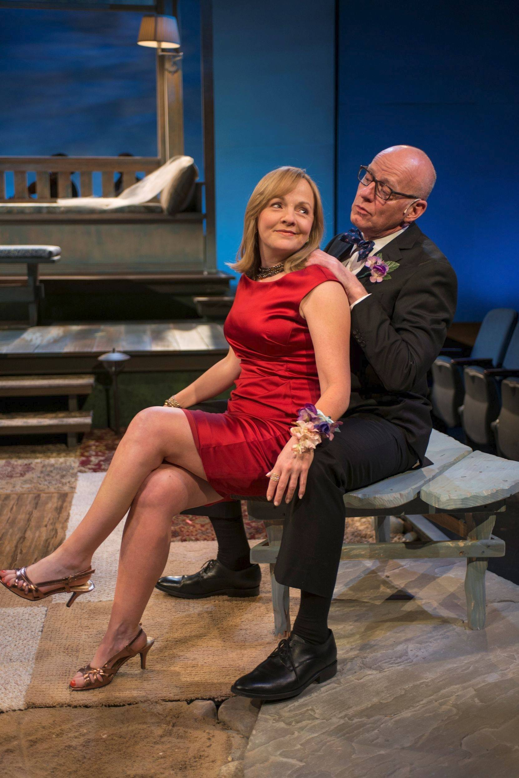 "Susie McMonagle and Jonathan Weir play the long-separated but still emotionally attached parents of a young woman about to be married in ""Days Like Today,"" a new musical by Alan Schmuckler and Laura Eason, running through July 13 at Writers Theatre."