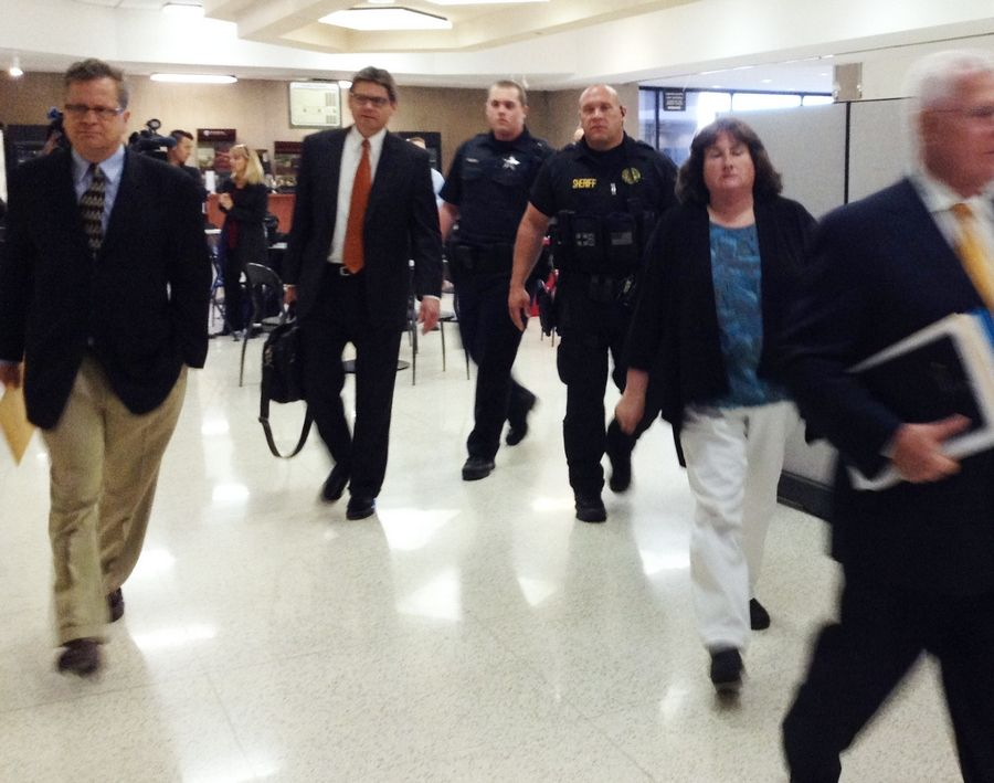 Family members of Carly Rousso leave the courtroom after Thursday's verdict.