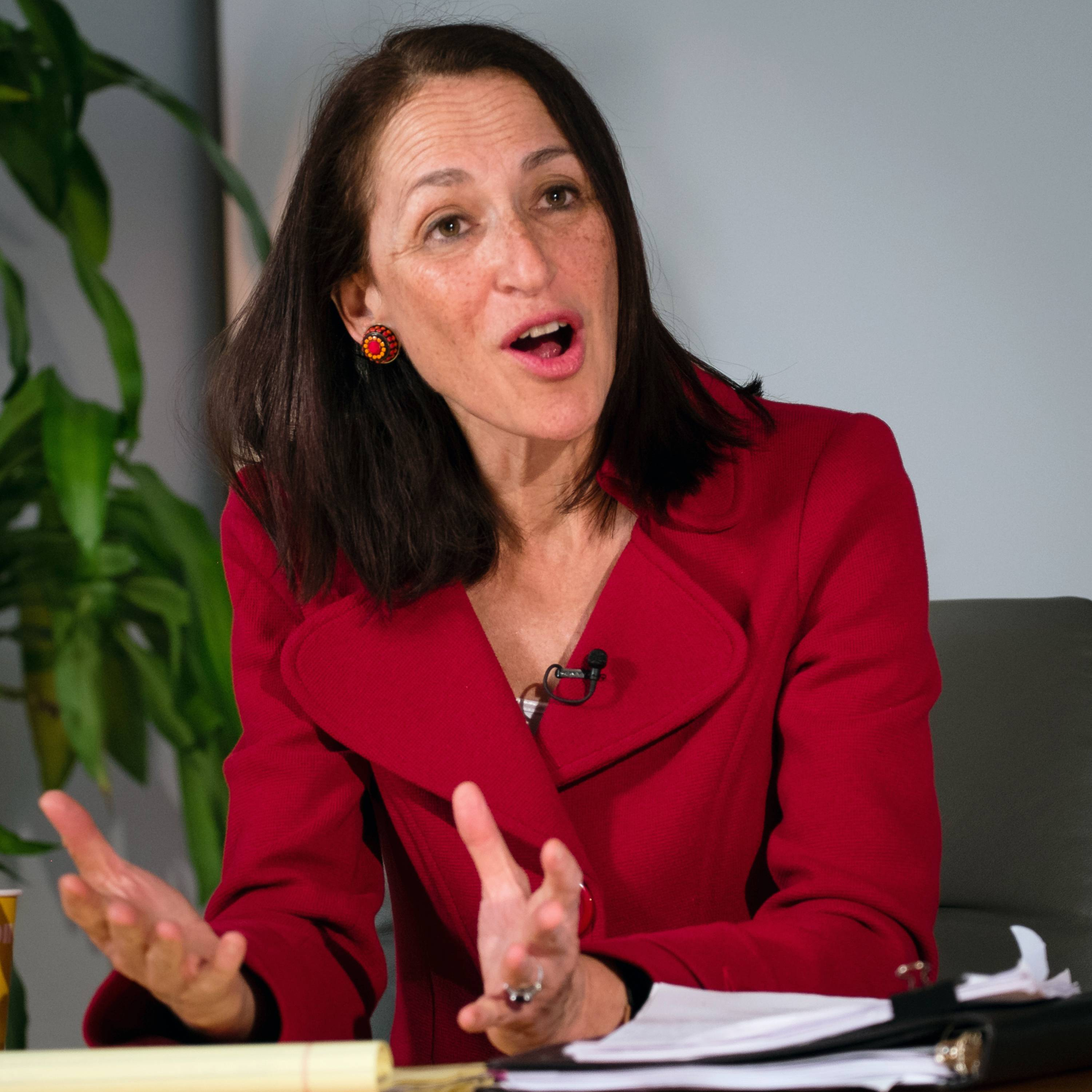 Food and Drug Administration (FDA) Commissioner Dr. Margaret Hamburg answers questions Friday during a newsmaker interview at the Associated Press offices in Washington.