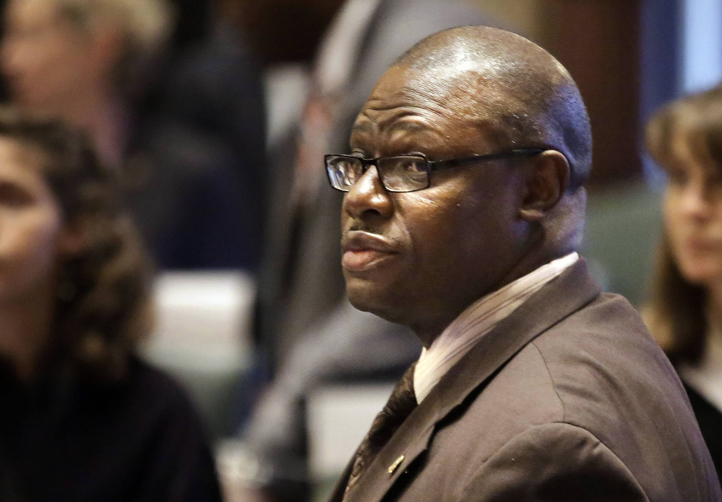 State Rep. Derrick Smith is charged with taking a $7,000 bribe from a day care operator seeking a state grant.