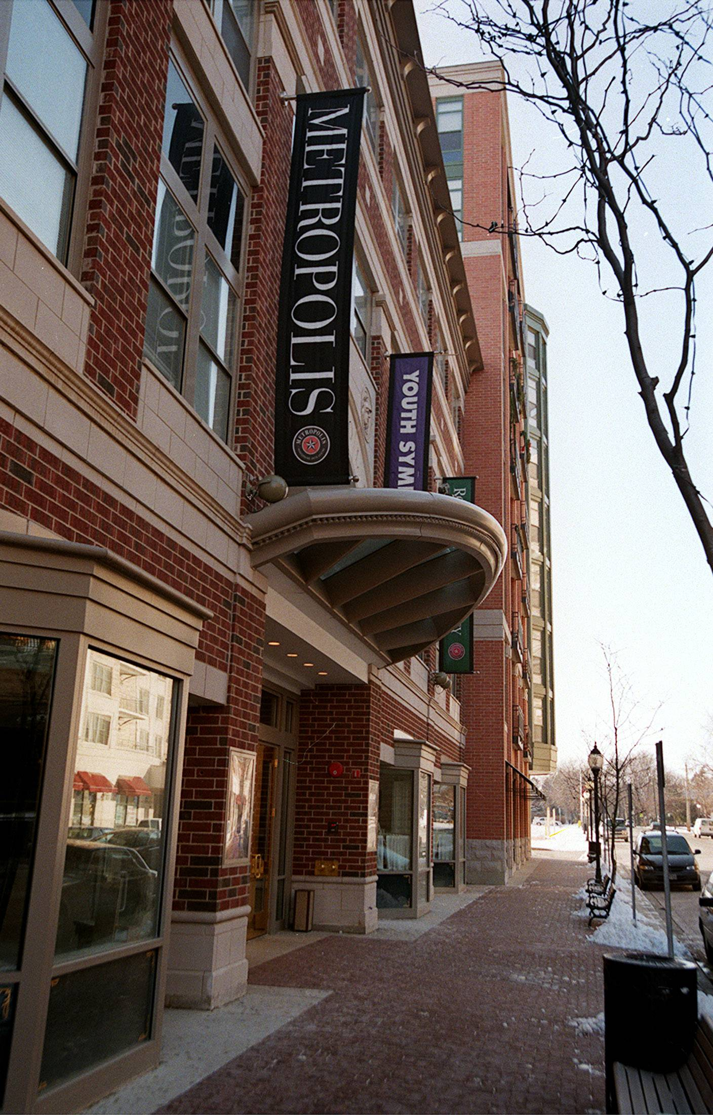 The Metropolis Performing Arts Centre has a high profile in downtown Arlington Heights.