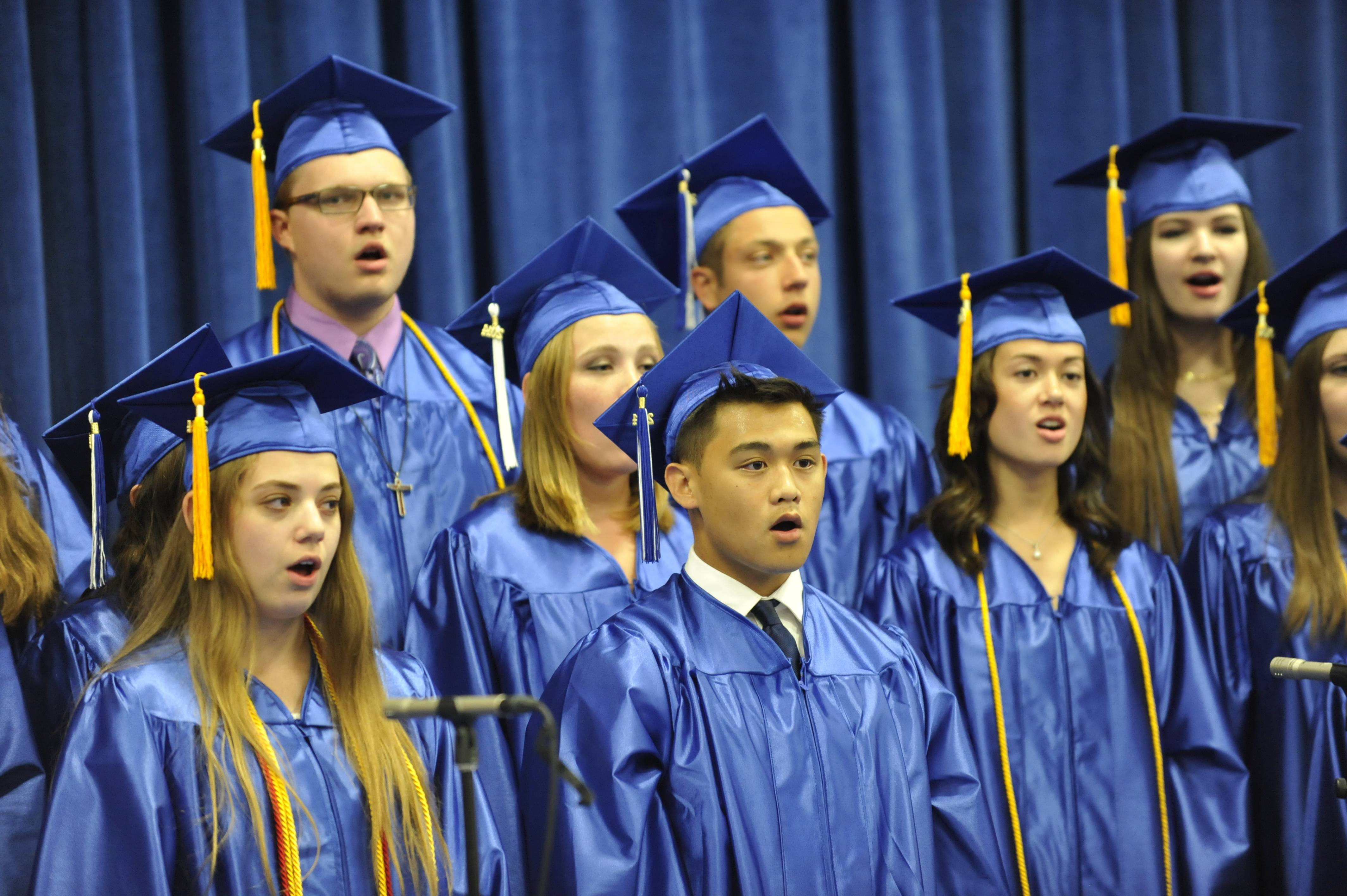 Images from the Burlington Central High School graduation ceremony on Friday, May 30th, at Elgin Community College.