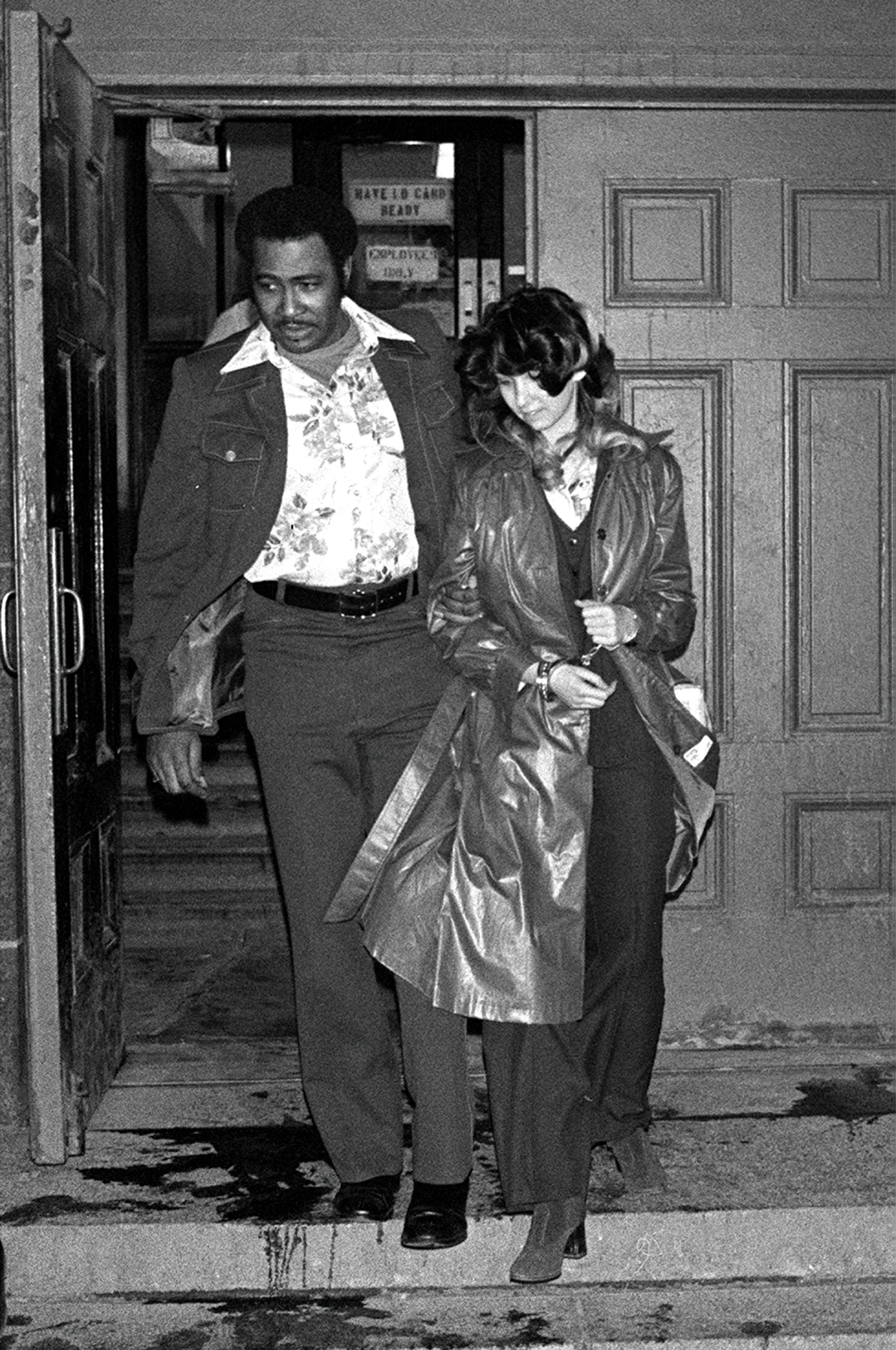 Patty Columbo leaves the criminal courts building in 1977.