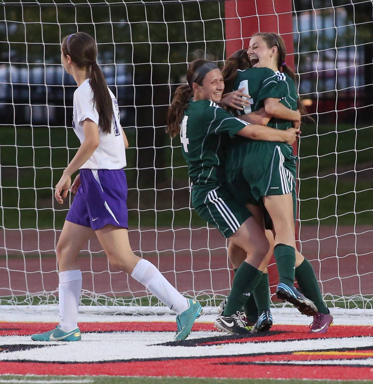 St. Edward vs. Manteno during the Class 1A state soccer semifinals at North Central College in Naperville on Friday.