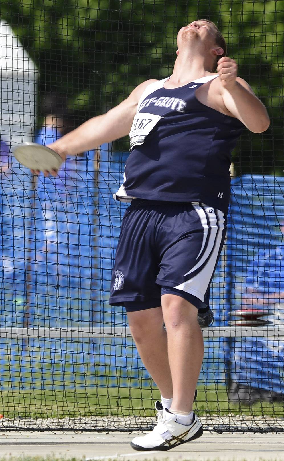 Cary-Grove's Ricky Hurley competes in the discus during the boys Class 3A state track and field preliminaries in Charleston Friday.