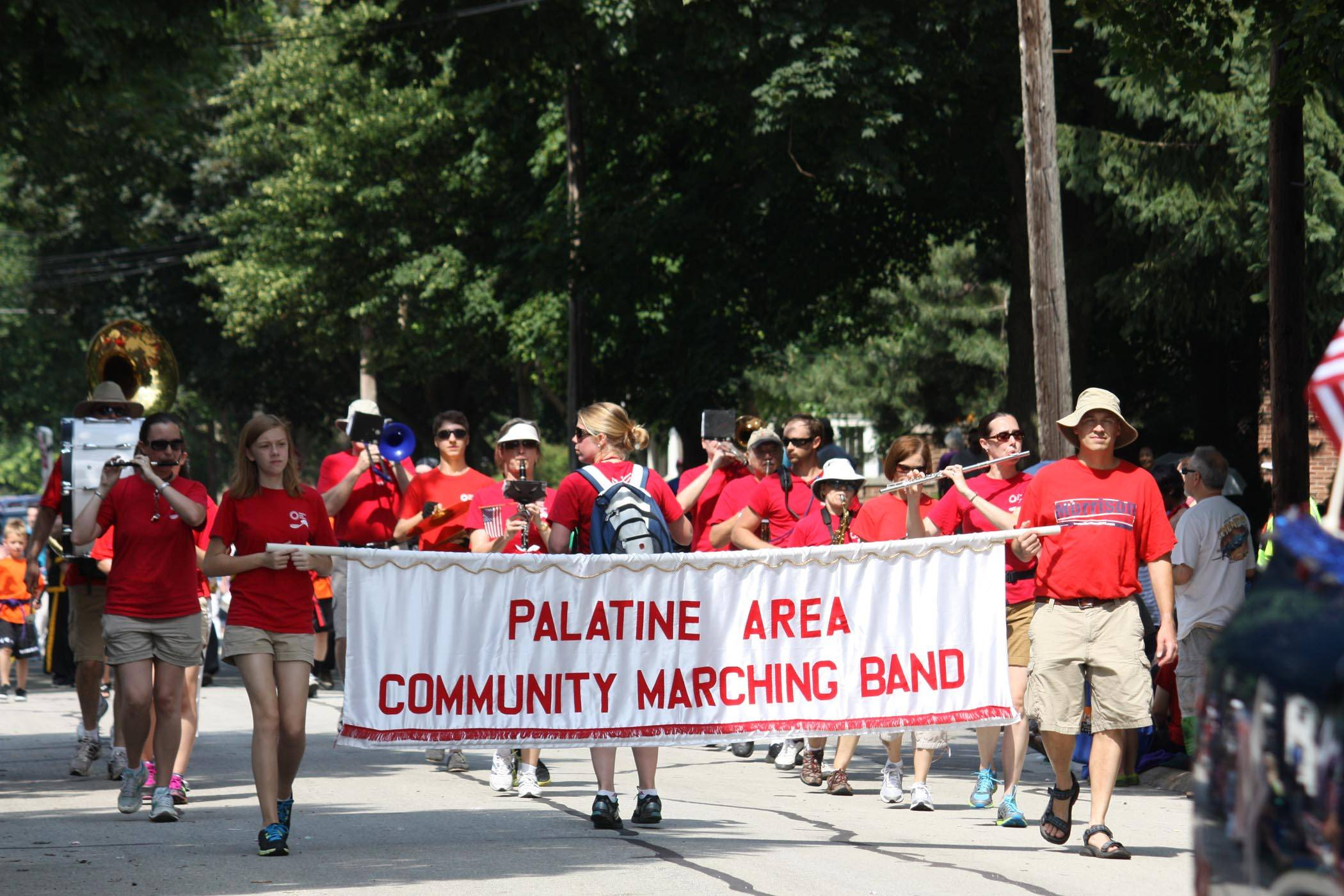 The Palatine Area Community Marching Band has performed in the Palatine Jaycees Hometown Fest Parade since 2008.Palatine Park District