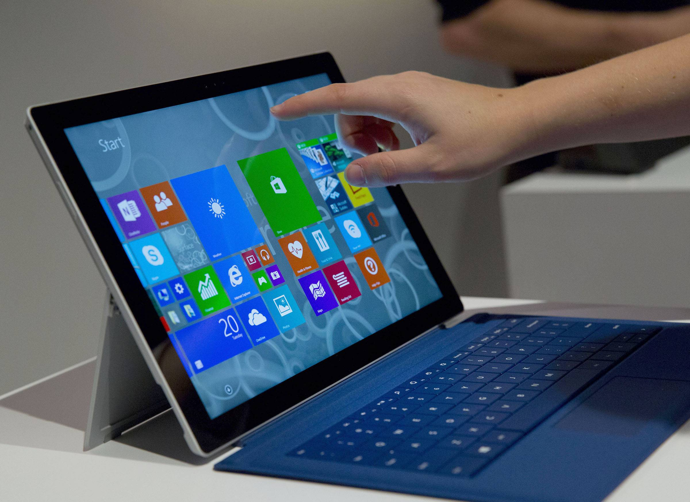 The larger-screen Surface tablet is thinner and faster than the previous Surface Pro model.