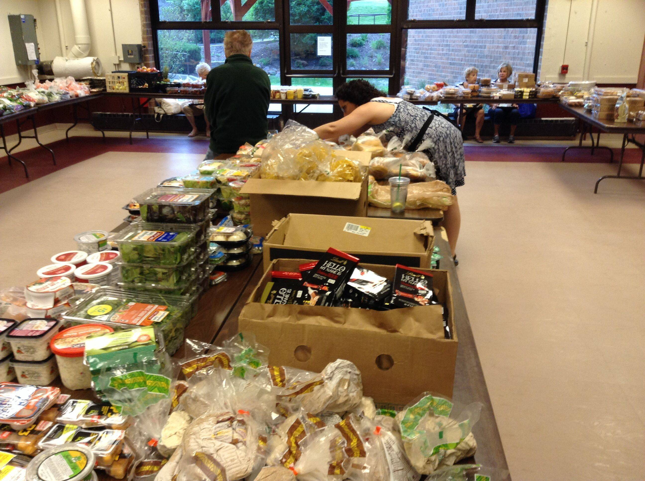 Emmaus House's Harvest Room at St. Francis de Sales Church in Lake Zurich.