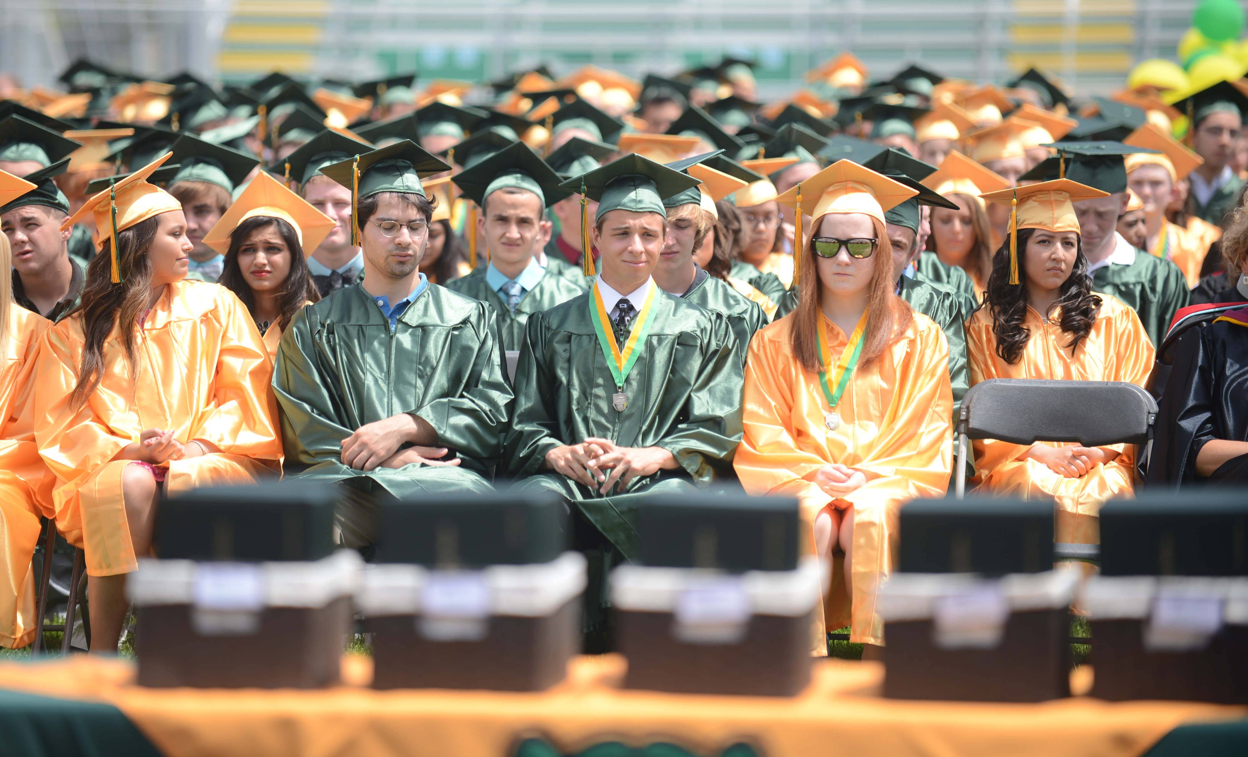 Images from the Crystal Lake South High School graduation ceremony on Saturday, May 31st, at the school.