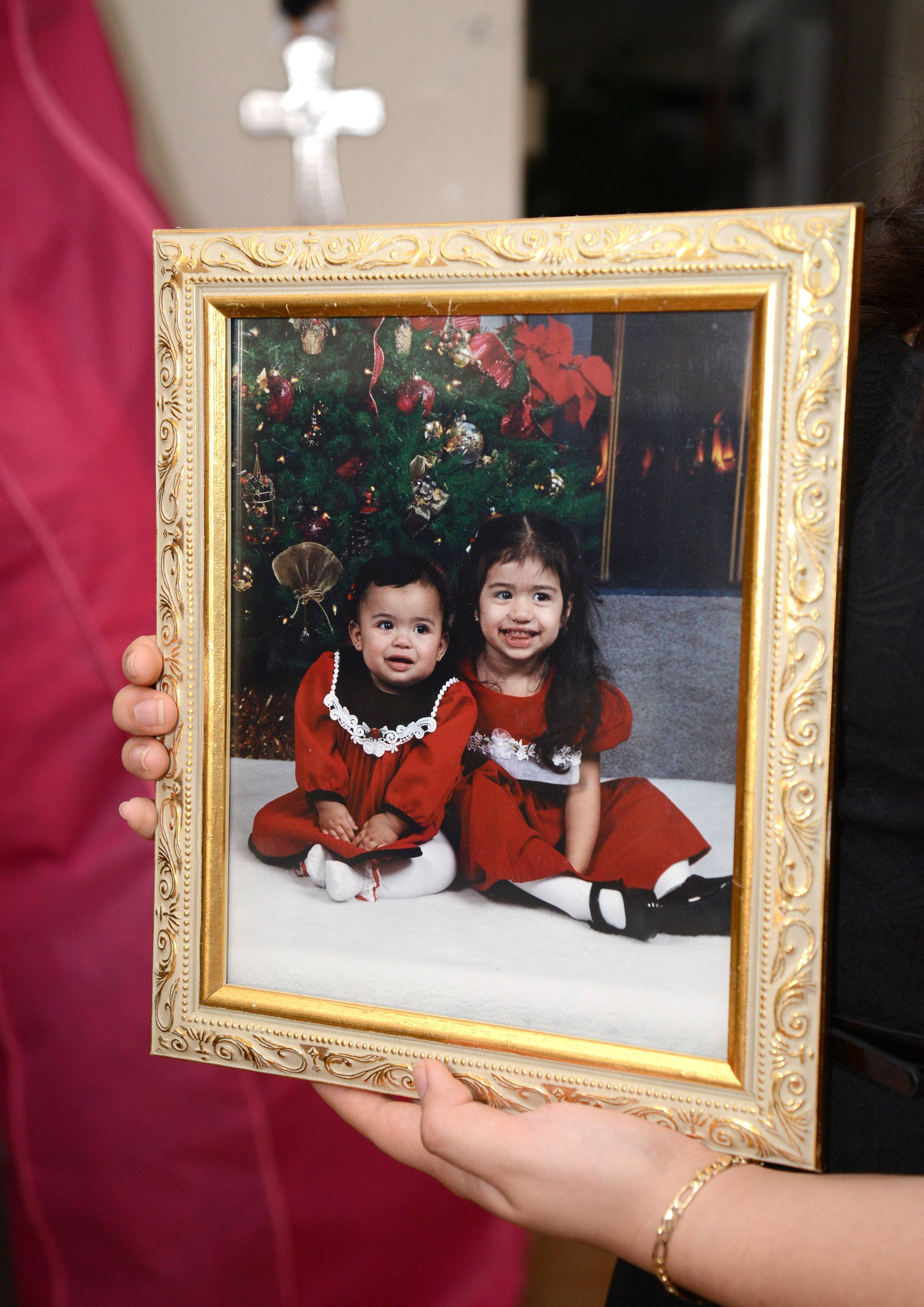 Joselyn, left, and Bianca Huerta, in 2001, just about a year before Joselyn would be diagnosed with a chronic nerve disorder that eventually took her life at age 12. Bianca always cared for Joselyn.Bian
