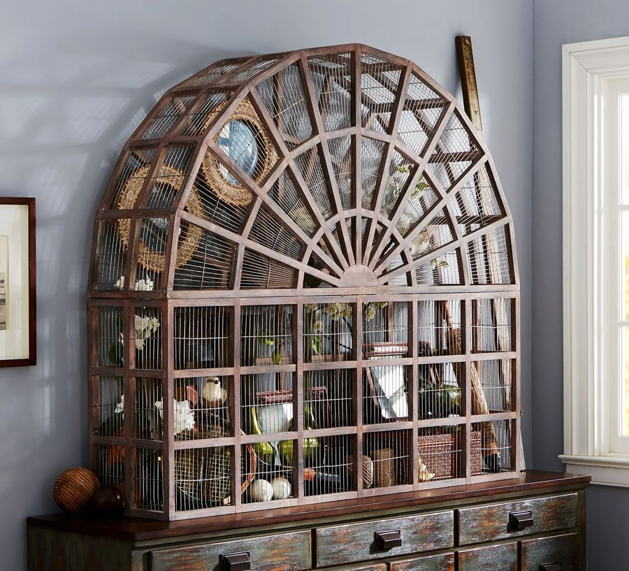 Pottery Barn S Large Conservatory Bird Cage Made Of Mahogany And Wire Is A Statement Piece Due