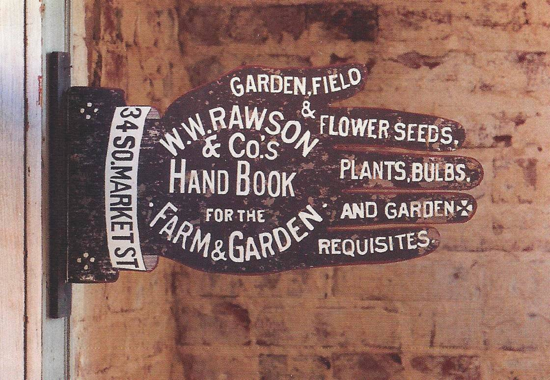 Reproduction and original antique signage and labels are part of the vintage garden look. This metal sign from Farmhouse Wares, printed on both sides, is wall art with graphic punch and old fashioned charm. Those drawn to 19th-century style may be happy to learn that vintage garden decor is a trend for spring and summer.