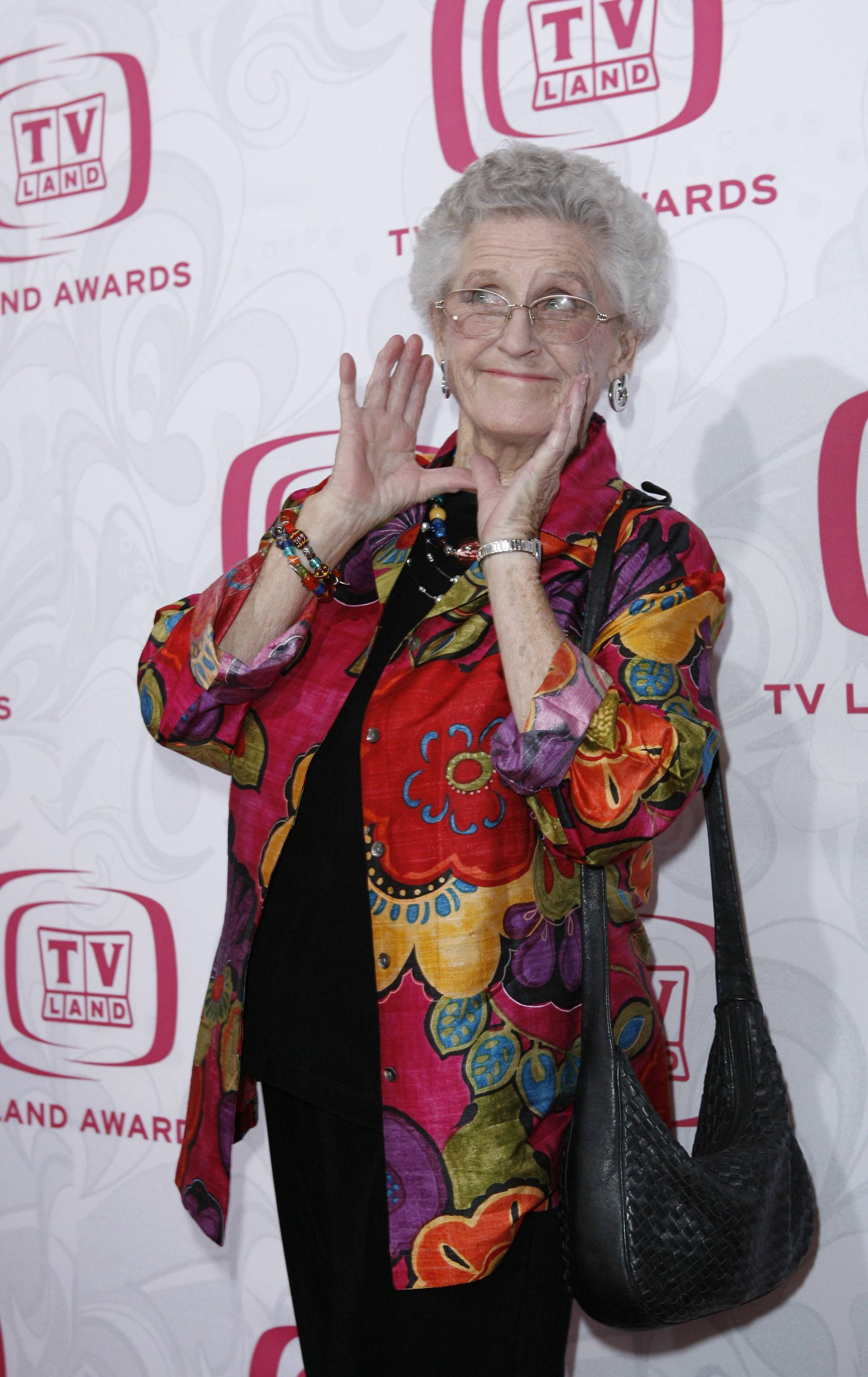 "In this 2007 photo, Ann B. Davis arrives at the 5th Annual TV Land Awards in Santa Monica, Calif. Emmy-winning actress Davis, who played the housekeeper on ""The Brady Bunch,"" has died at a San Antonio hospital on Sunday She was 88."