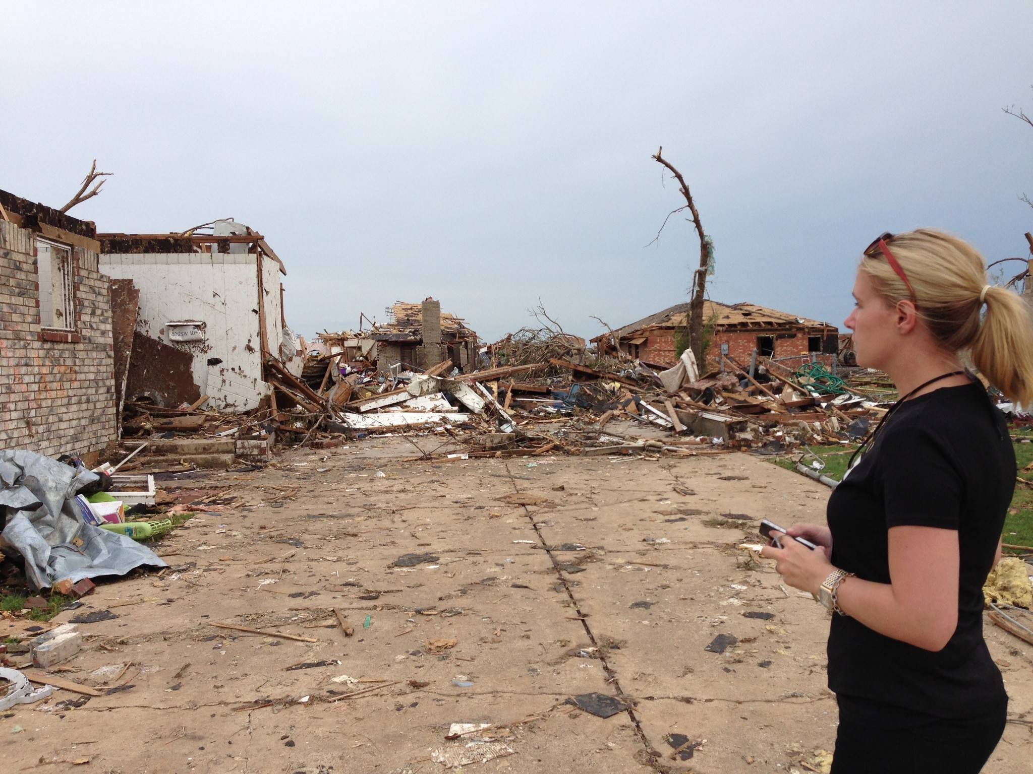 "Michelle Licht is part of ALE Solutions' ""boots on the ground team"" for catastrophic events, such as the tornado that struck Moore, Oklahoma, last May. The tornado swept through a 17-mile area."