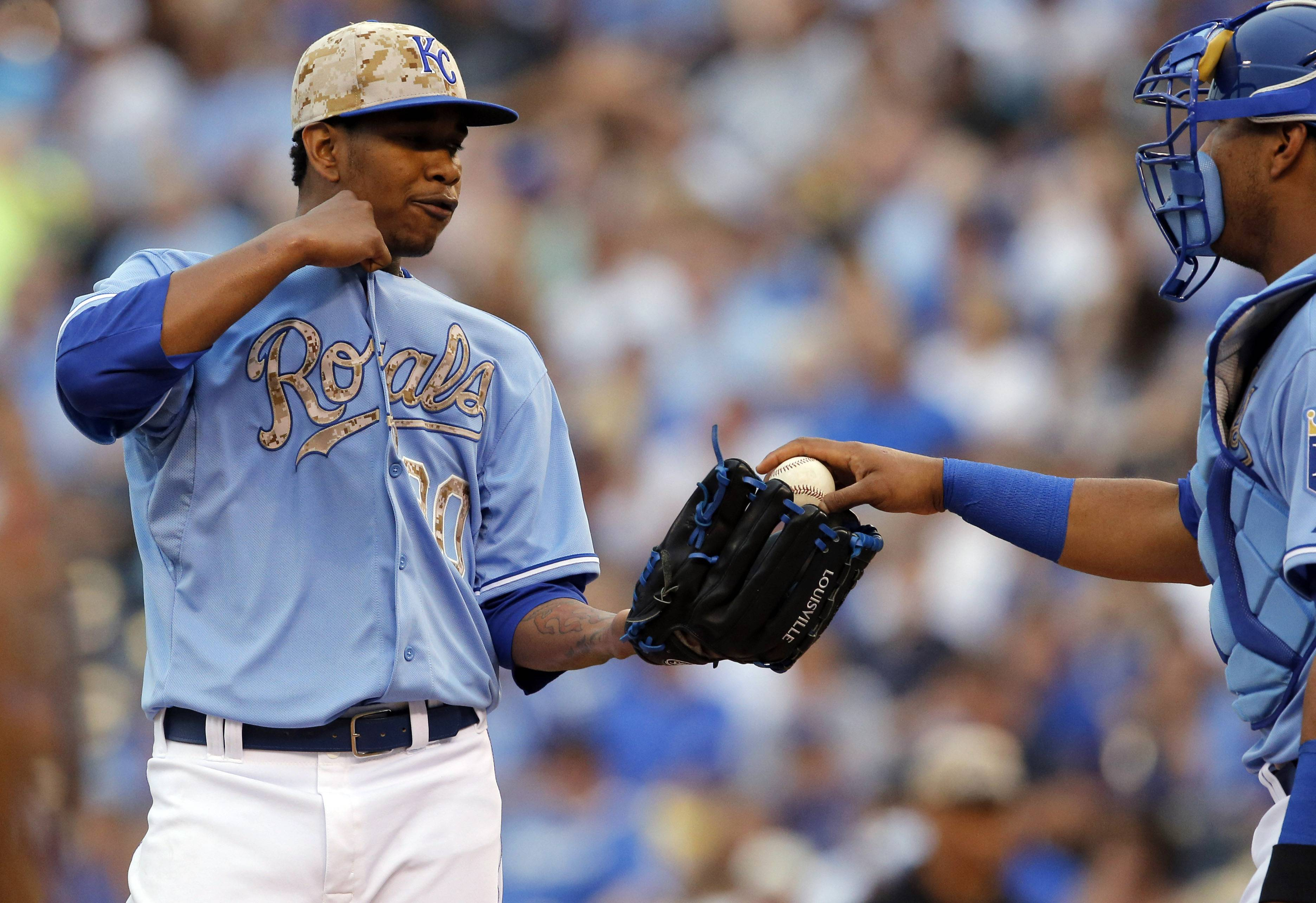 Royals starting pitcher Yordano Ventura, who averages 96 mph on his fastball, has been told to hold back on his fastball in the early innings to avoid stress on his arm.