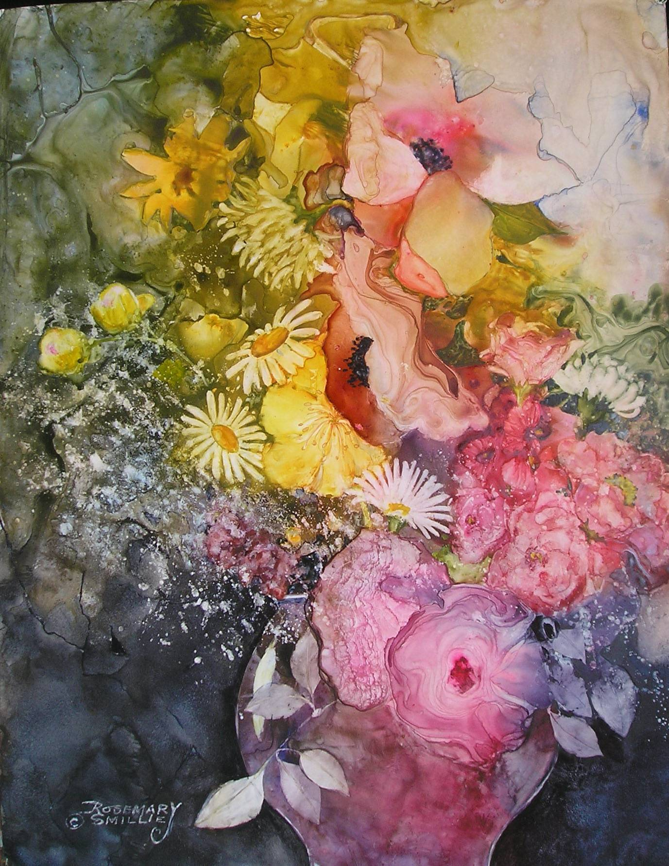 """The Arrangement"" is one of the works guests will see in the Rosemary Smillie exhibit at The Holmstad in Batavia. The show is open daily from 9 a.m. to 5 p.m. through June 29."
