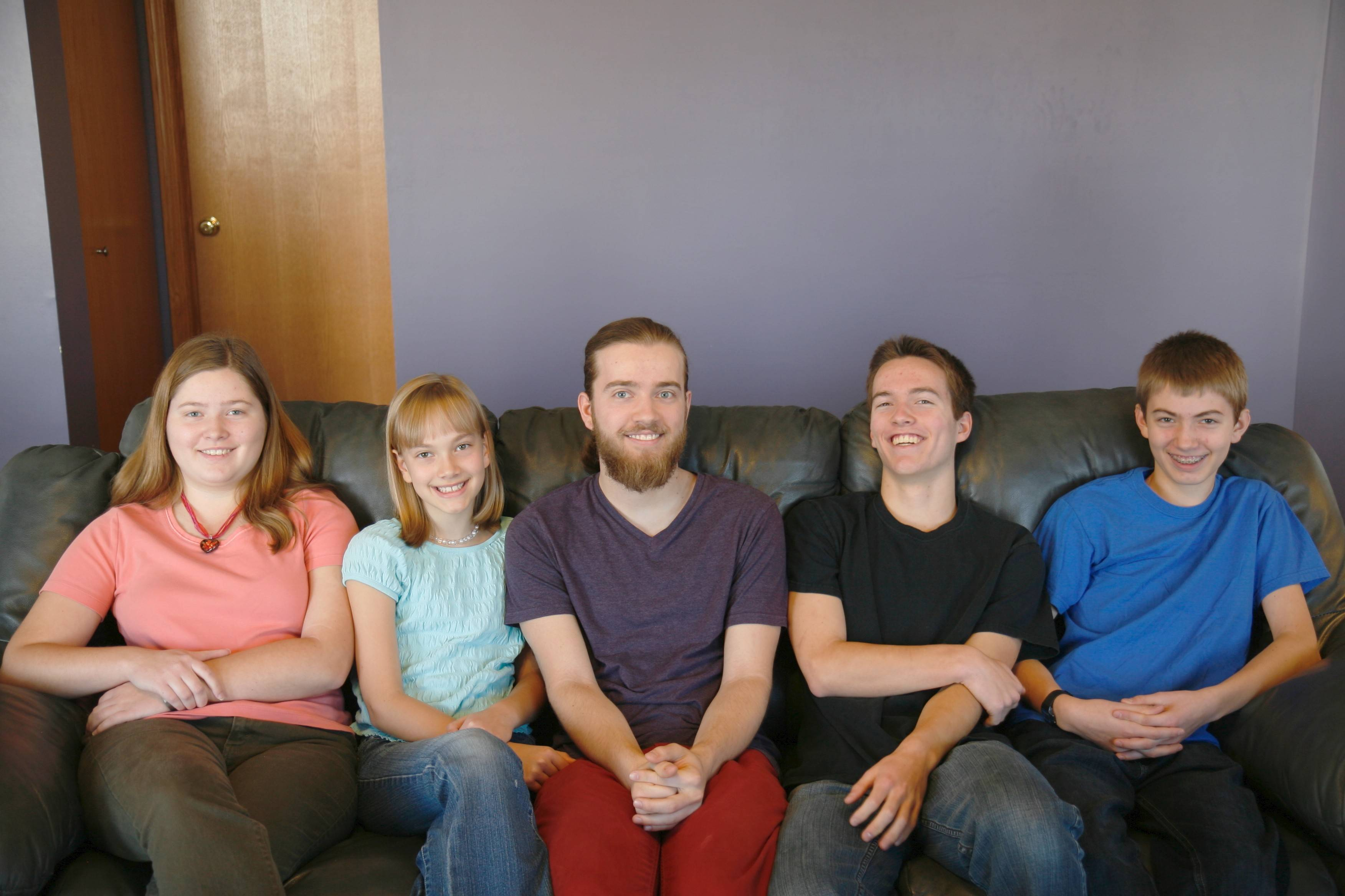 Allison Spahr, 10, second from the left, with her siblings Lauren, 18, Bryan, 21, Eric, 16, and Kyle, 13. Allison was killed Sunday morning during a family camping trip in Wisconsin. The Spahrs live in Cary.