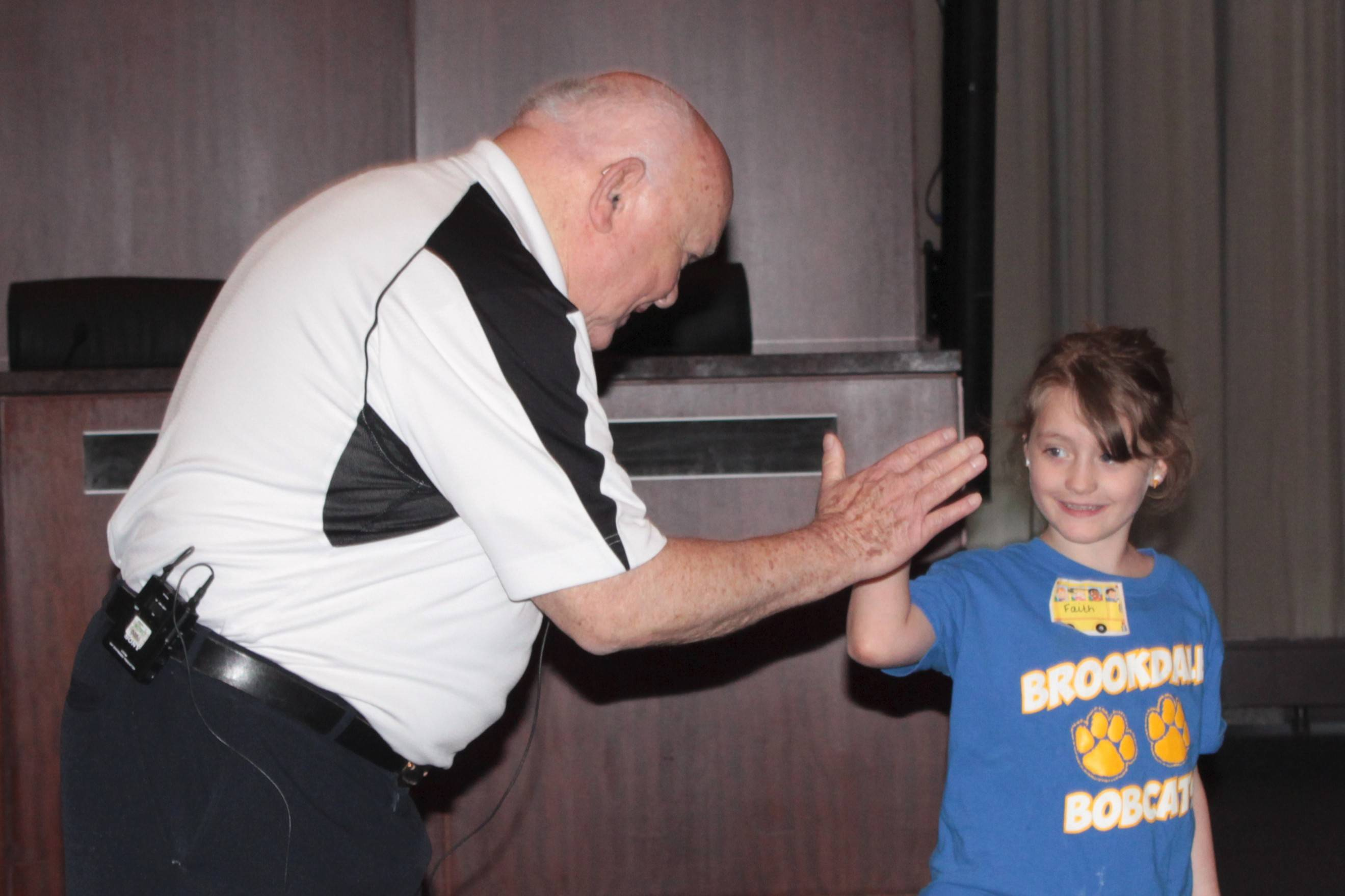 Kindergartners at Naperville's Brookdale Elementary School wrapped up lessons about their community and the people who work there with a field trip to downtown Naperville, where they visited Mayor George Pradel at city hall.
