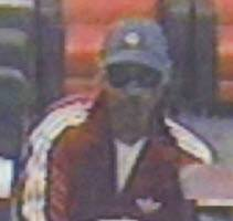 Authorities have released this photograph of the suspect in a robbery Monday in Warrenville.