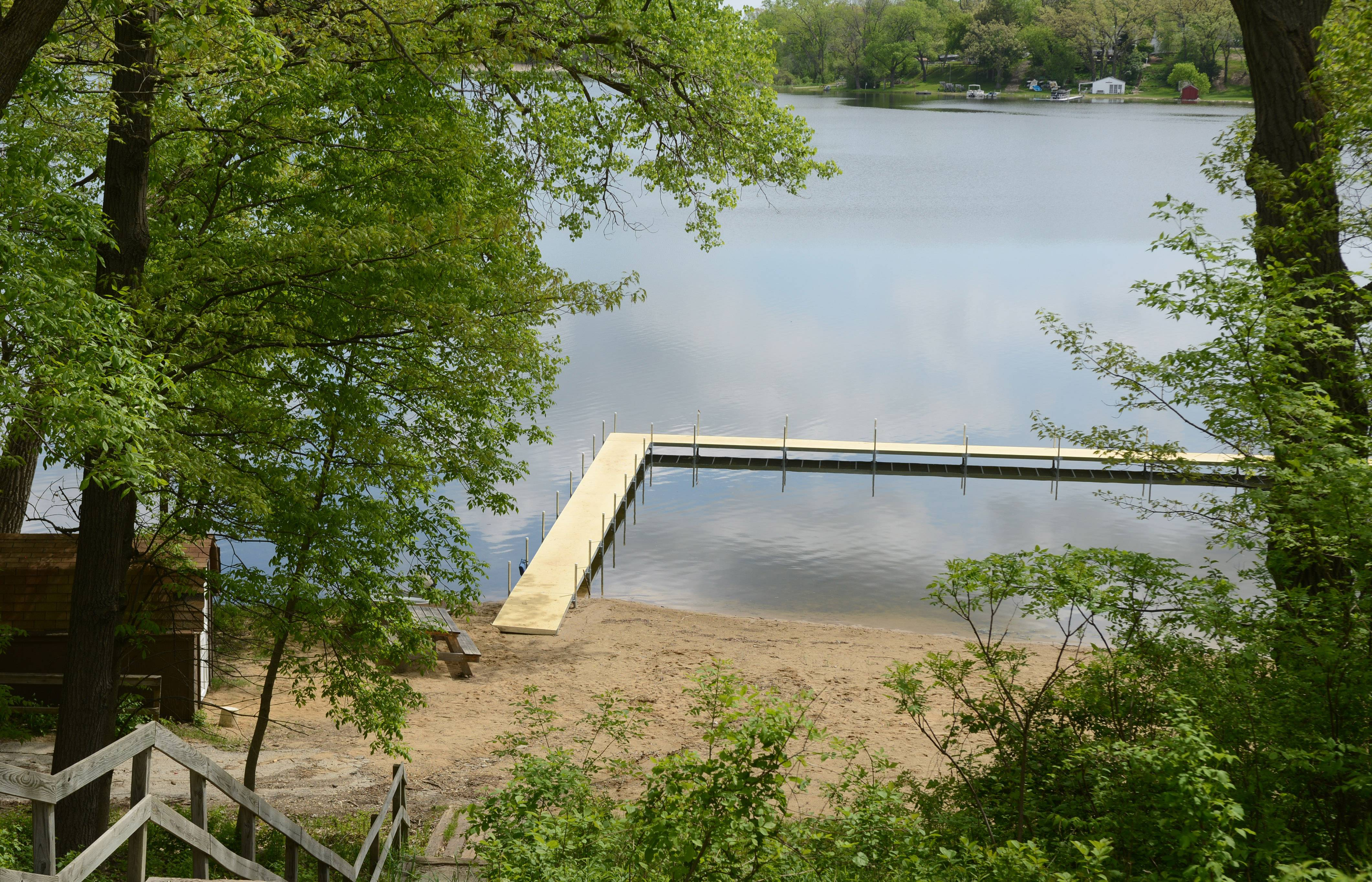 Camp Peacock in Lake Villa Township has a new dock on Crooked Lake to go with its roughly 600 feet of shoreline. The facility reopens for summer camps later this month.