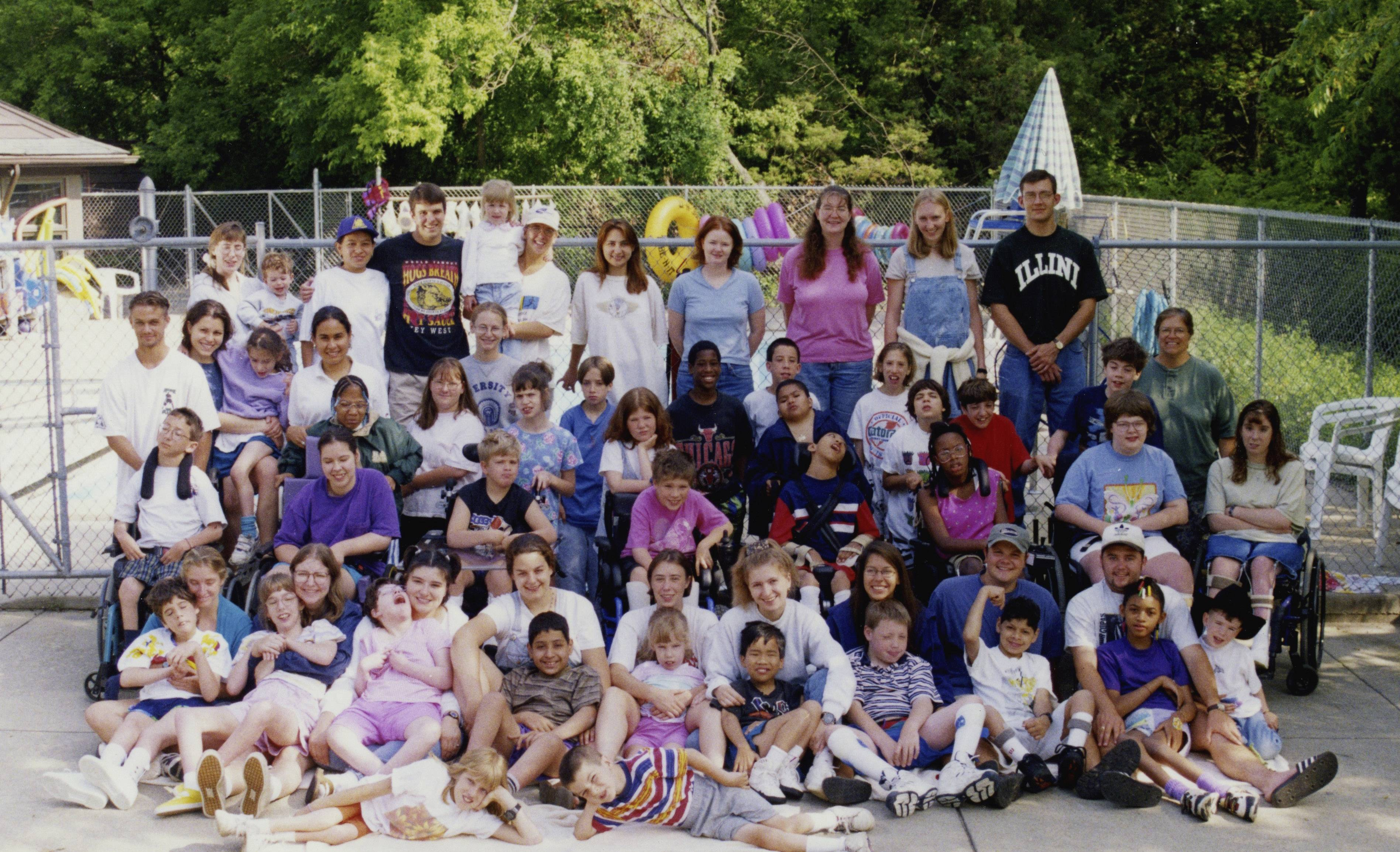 A late 1990s group shot at Camp Peacock.