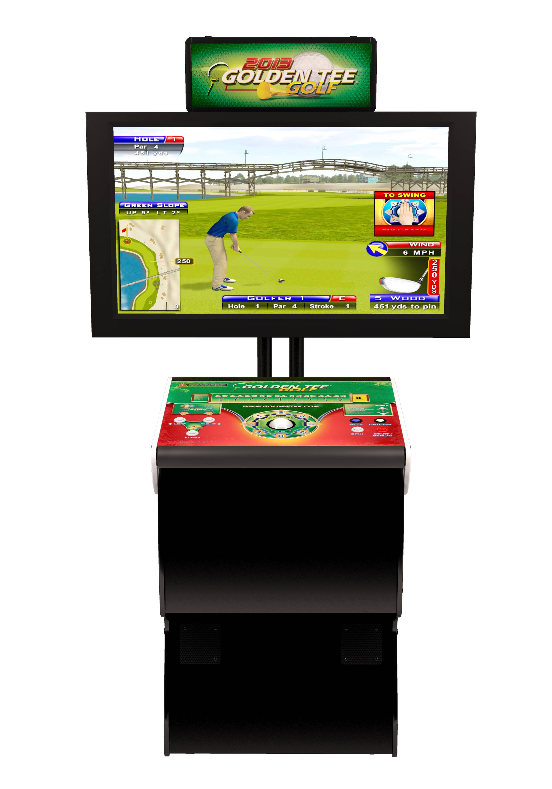 Golden Tee is the #1 coin operated video game in the country.