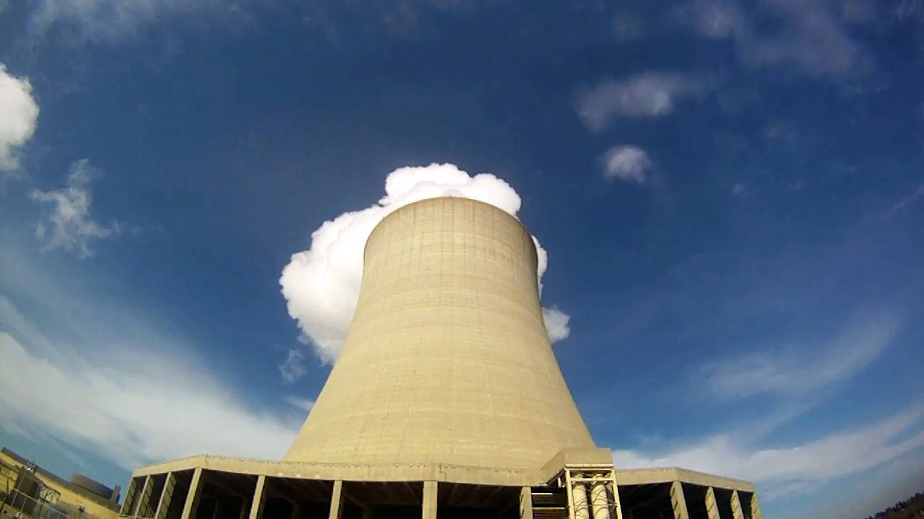 Steam escapes from Exelon Corp.'s nuclear plant in Byron.
