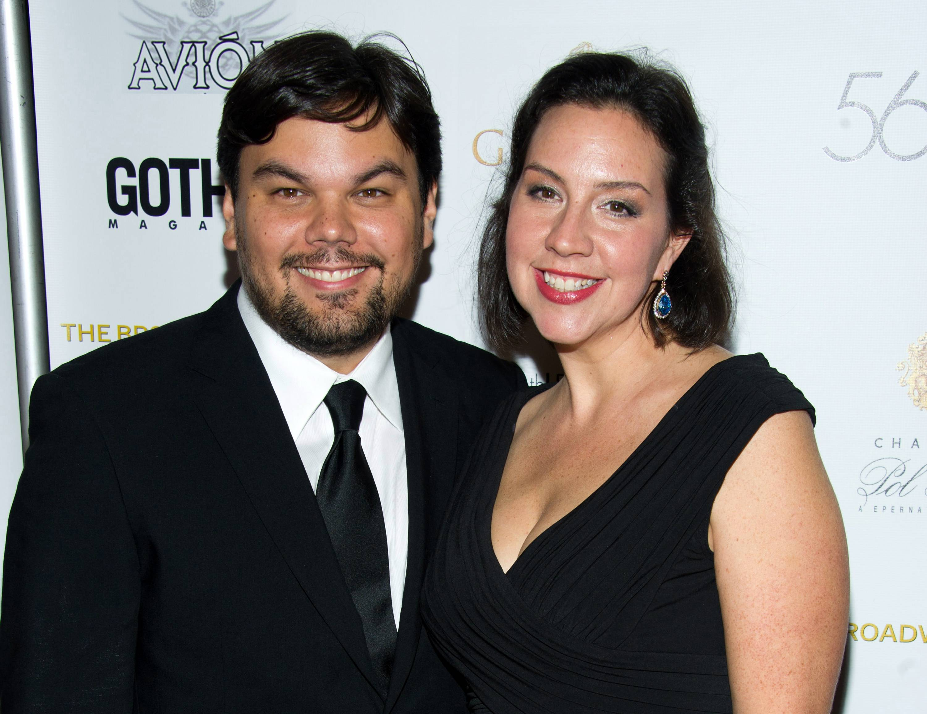 Robert Lopez and Kristen Anderson-Lopez at the 56th annual Drama Desk Awards in New York.