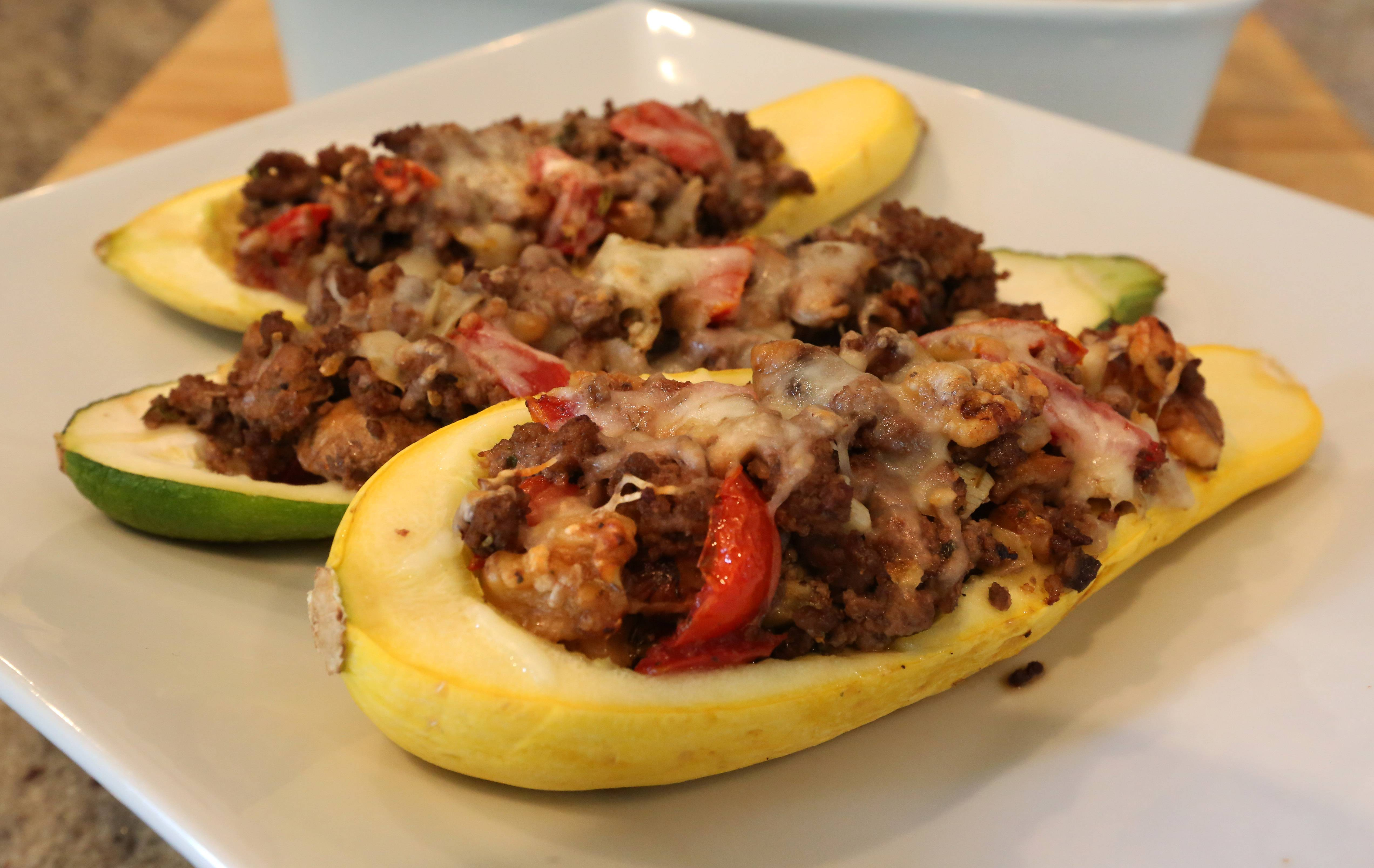 Bison is the meat of choice in Kate Kent's stuffed squash.