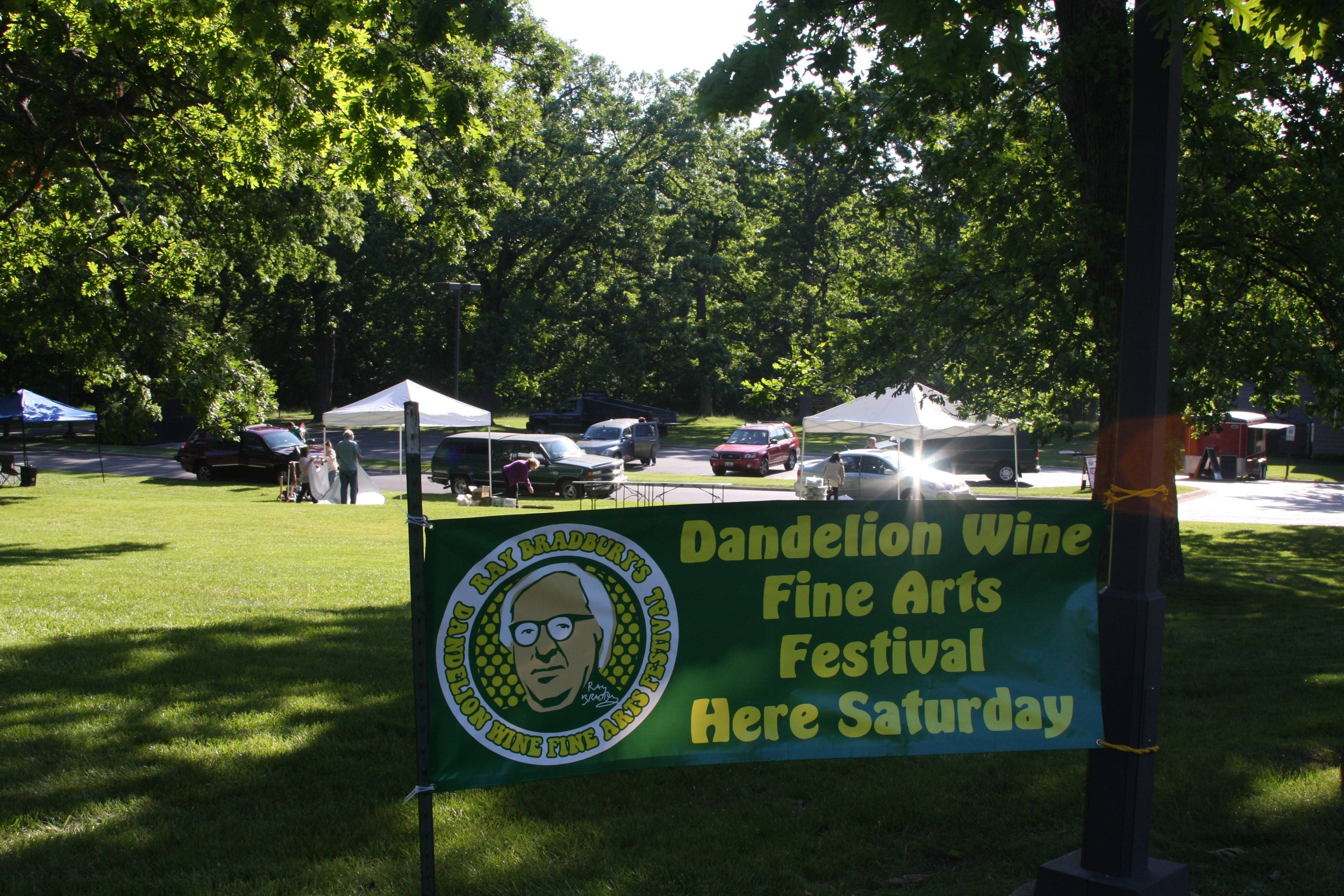 The 15 Annual Ray Bradbury Dandelion Wine Fine Arts Festival will be from 10 a.m. to 4 p.m. Saturday, June 7, at Bowen Park in Waukegan.