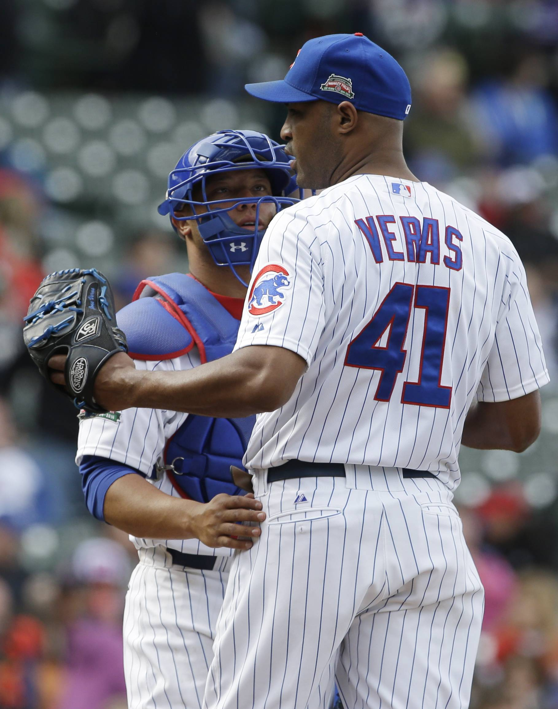 Veras out, Cubs' young relievers in