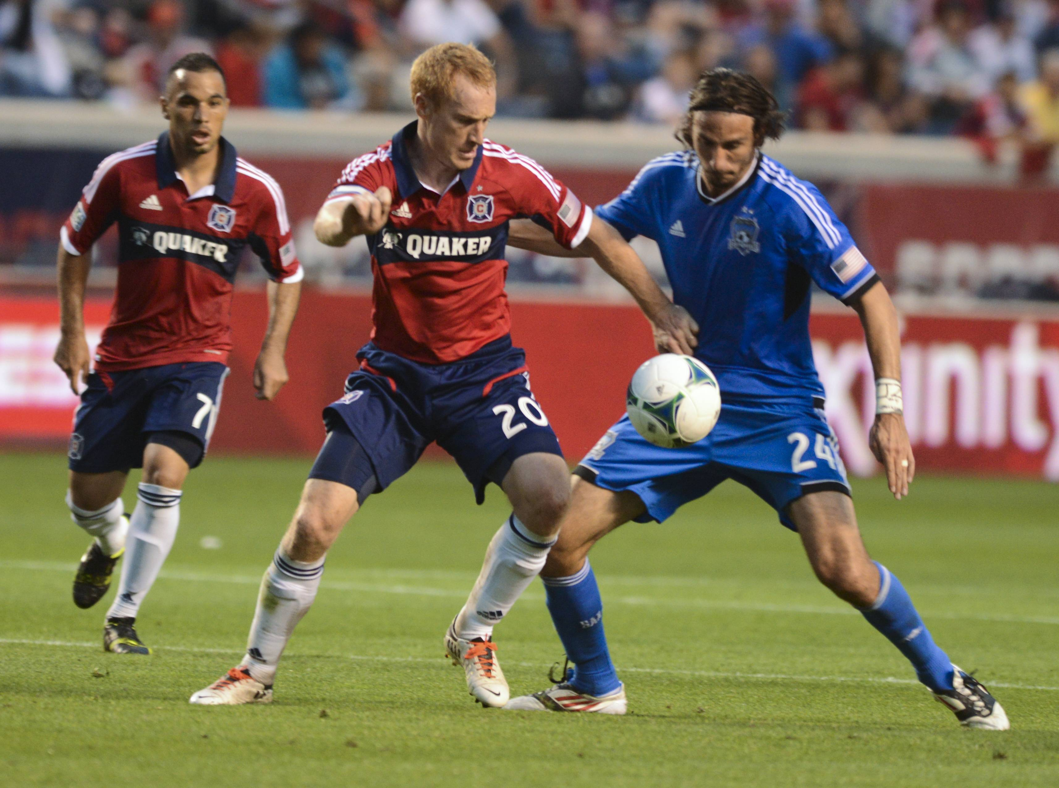 Jeff Larentowicz, who played for three seasons with Colorado, returns Wednesday with his Fire teammates to play the Rapids in a Major League Soccer match.