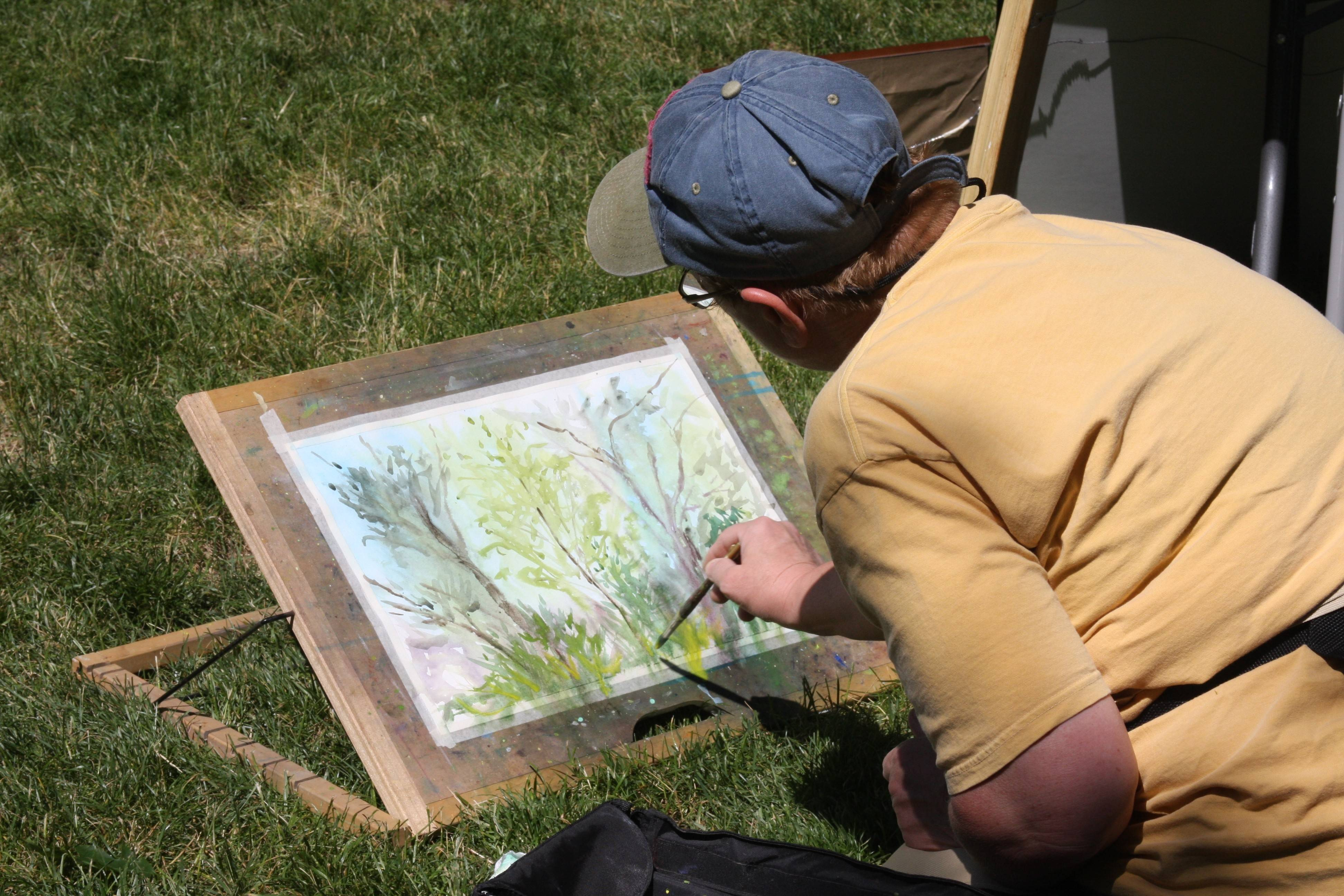 Artists will show their work and demonstrate their techniques in Artist Lane at the Dandelion Wine Fine Arts Festival in Waukegan.