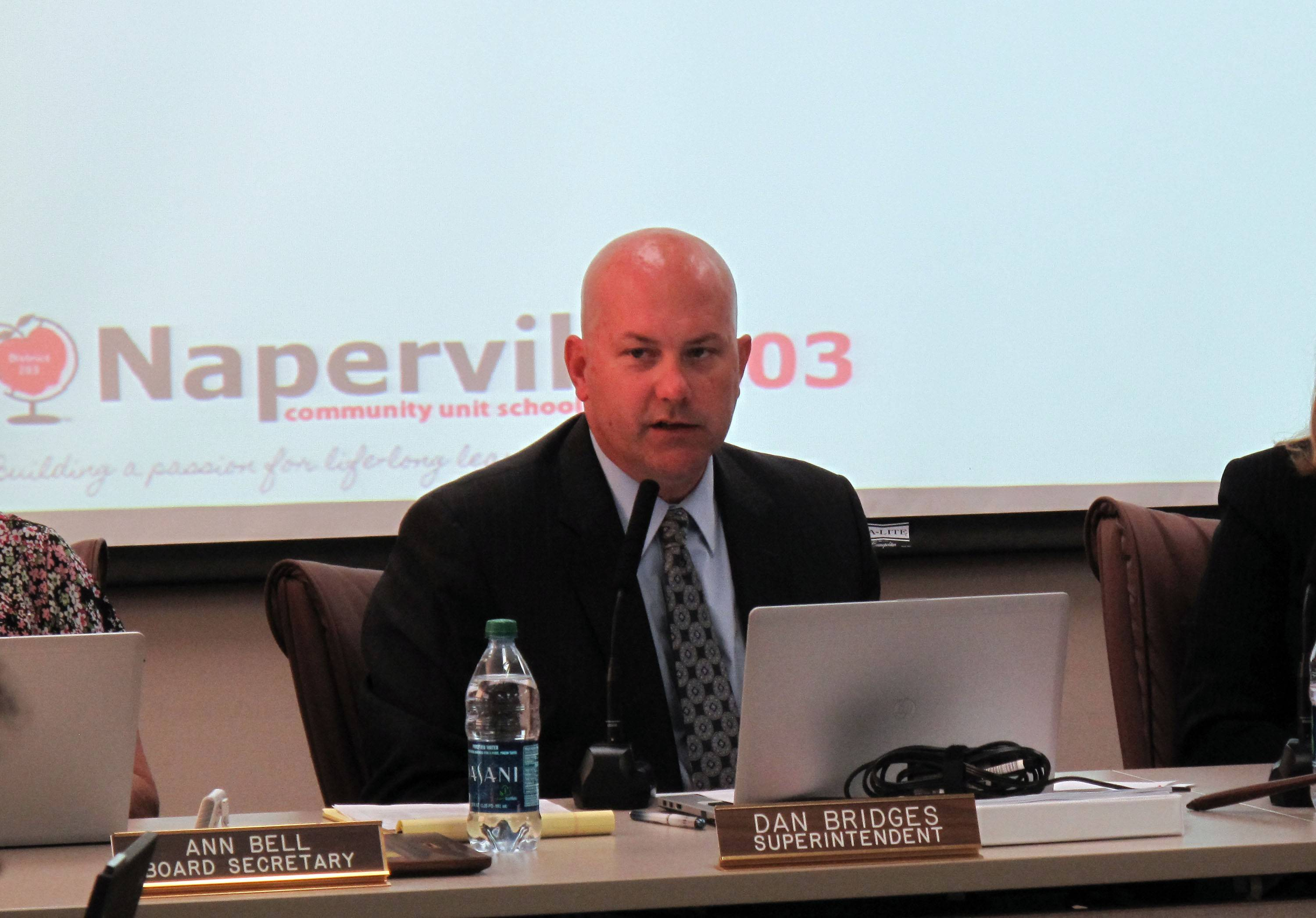 Naperville Unit District 203 Superintendent Dan Bridges says he is looking to find a community member to be a co-chairman for the district's diversity committee as it looks to continue welcoming an increasing population of diverse students and recruiting teachers from various backgrounds.