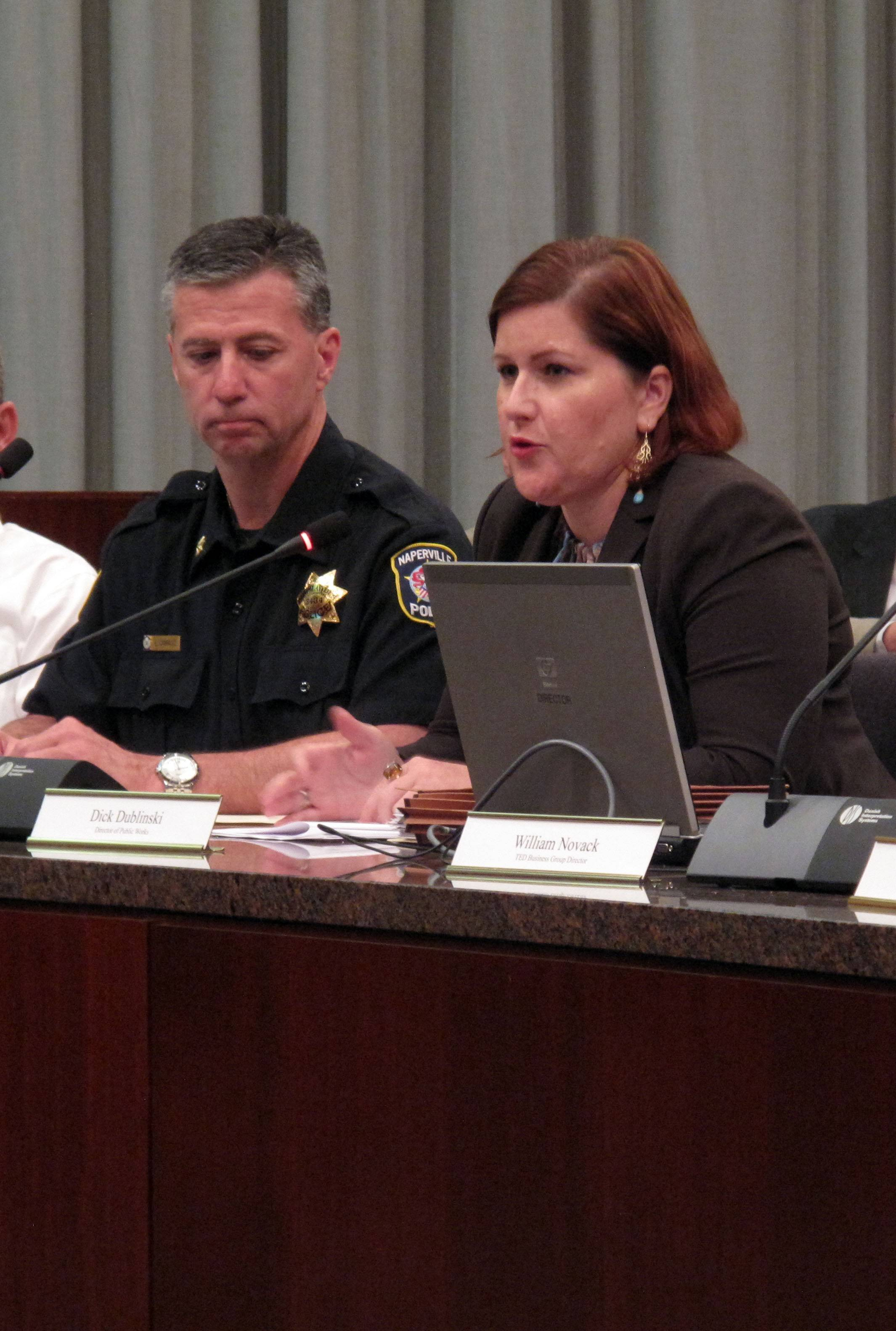Kristen Foley, senior assistant city attorney, and Naperville police Cmdr. Lou Cammiso said an ordinance the Naperville City Council approved Tuesday night could help detectives track stolen jewelry if it is sold to one of the five pawnshops in town.