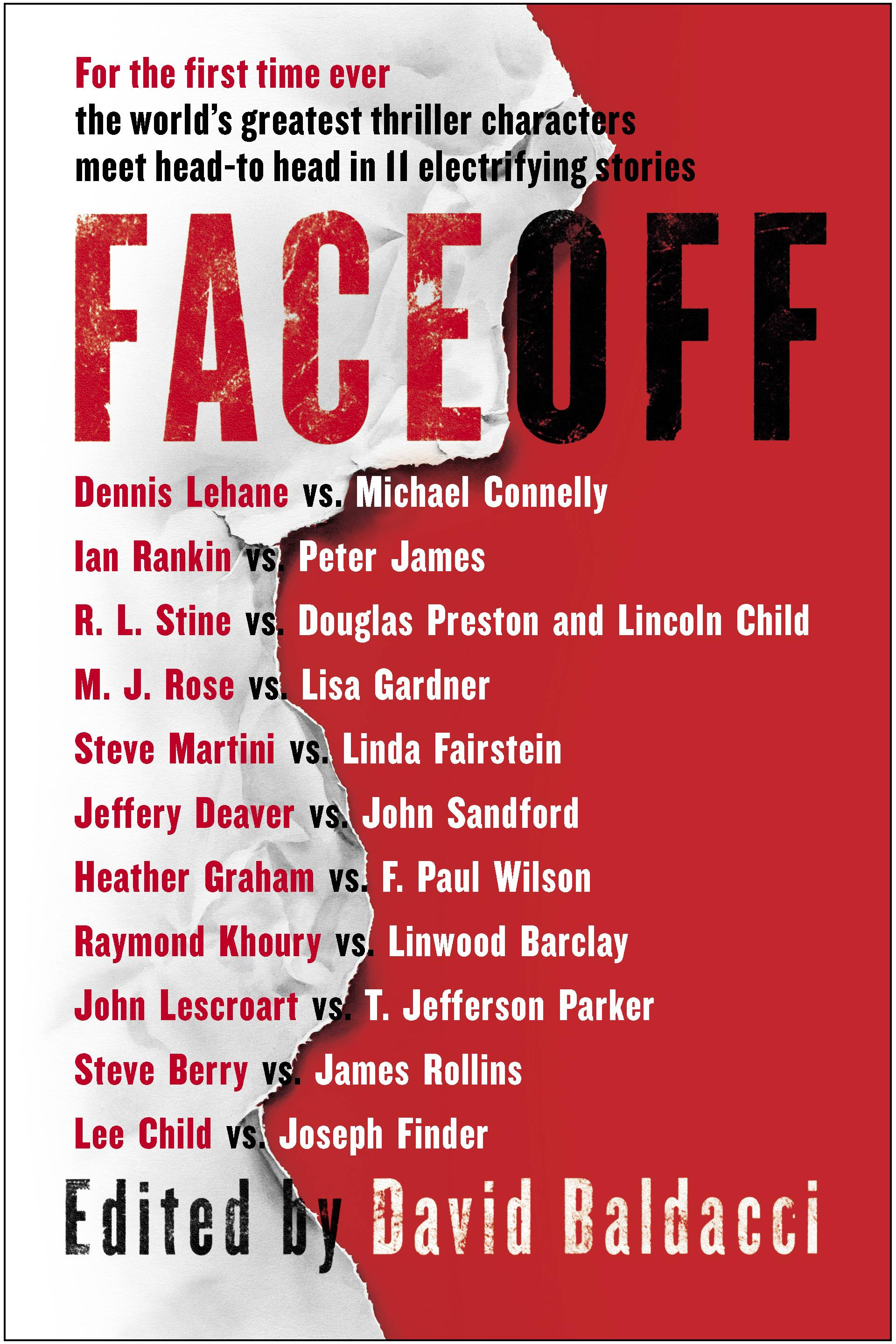 "In ""FaceOff,"" nearly two dozen authors take their most popular characters and have them interact in 11 stories."