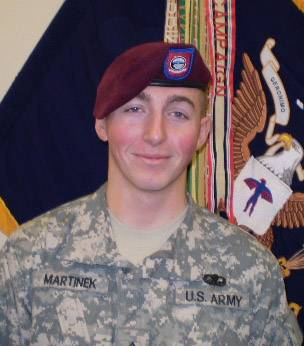 U.S. Army photo of Pfc. Matthew Martinek