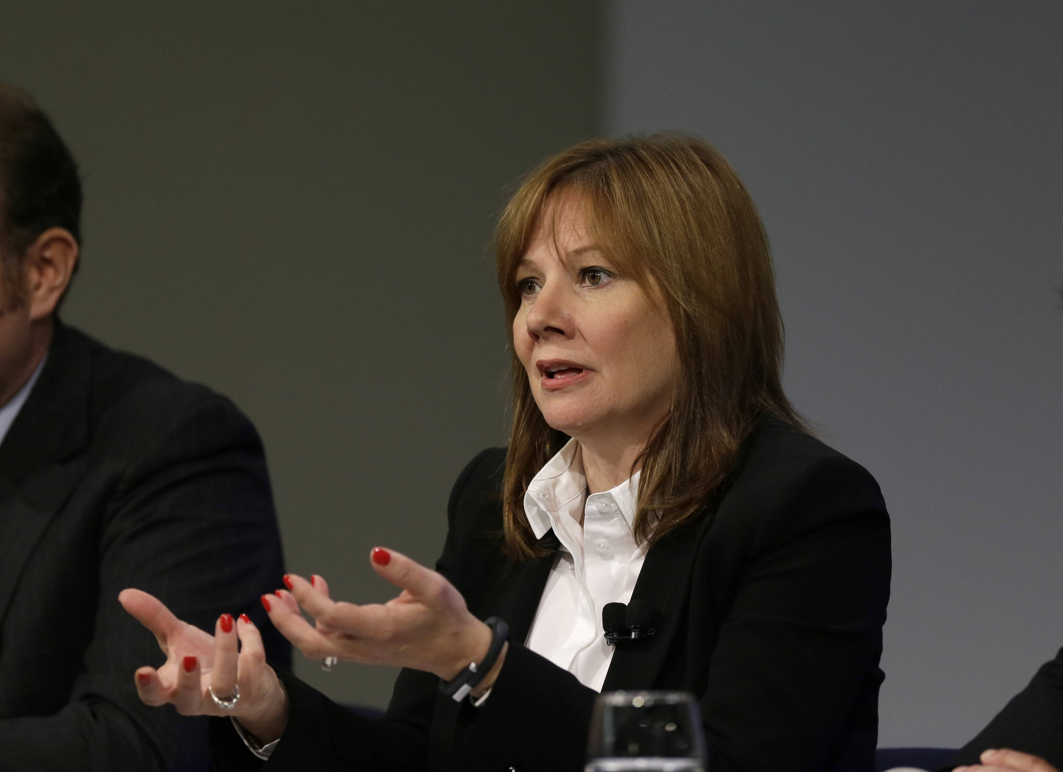 General Motors CEO Mary Barra, seen during a press conference at the General Motors Technical Center in Warren, Mich., Thursday, said 15 employees -- many of them senior legal and engineering executives -- have been forced out for failing to disclose defective ignition switches, which the company links to 13 deaths and 54 crashes in which the air bags didn't deploy.
